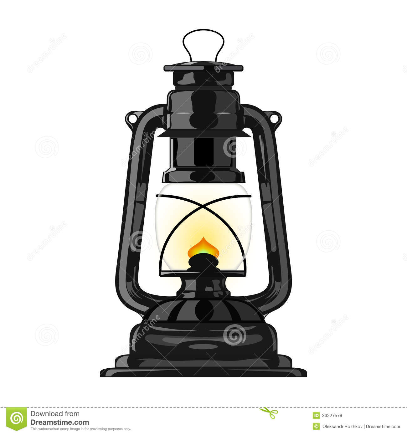 Old Kerosene Lamp Eps10 Stock Vector Image Of Ancient