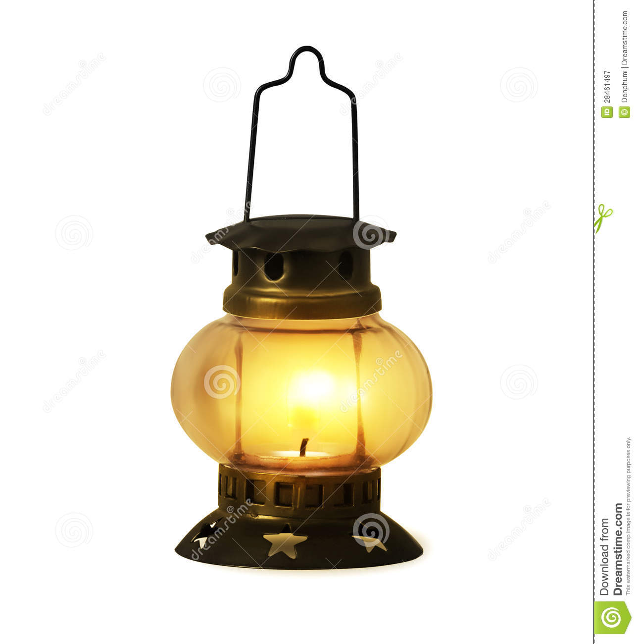 Old Kerosene Lantern Burning Stock Image Image Of Light