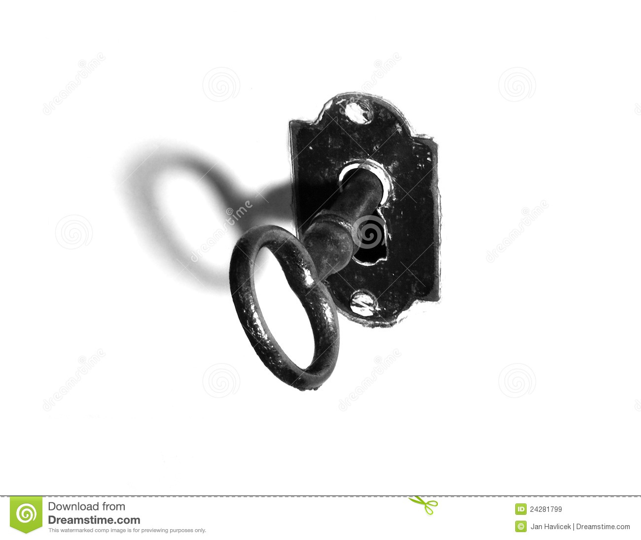 Old Key Black And White Royalty Free Stock Images