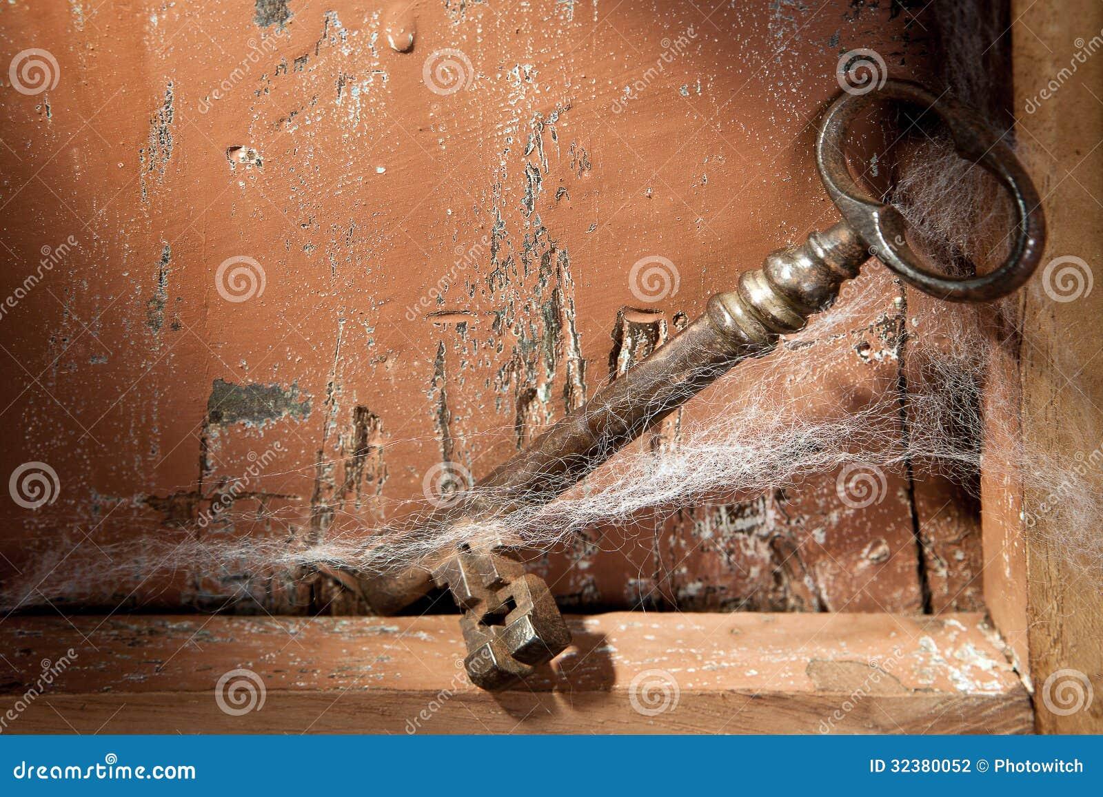 Old Key And Cobwebs Stock Photography Image 32380052