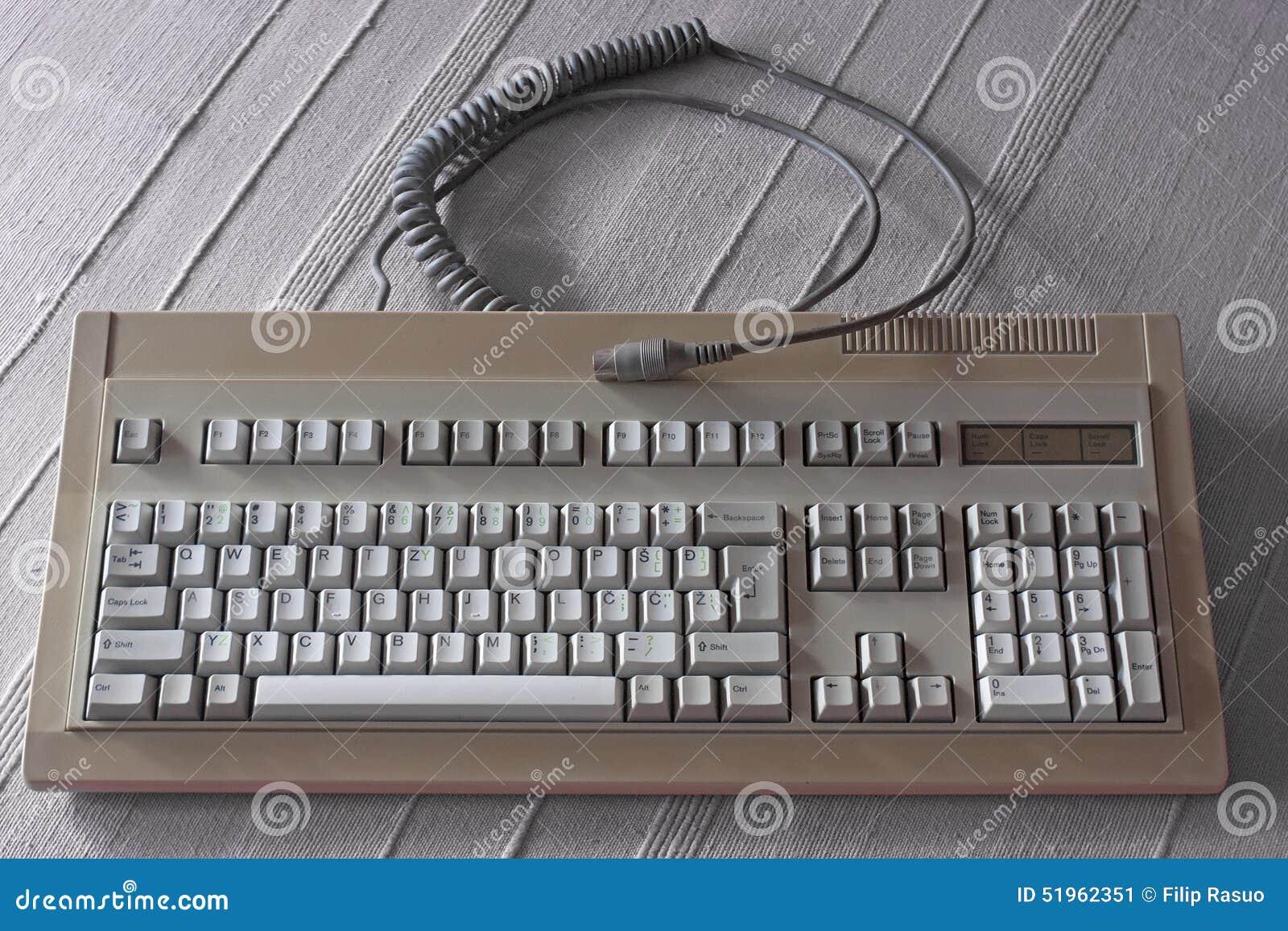 Old keyboard stock image  Image of input, enter, device