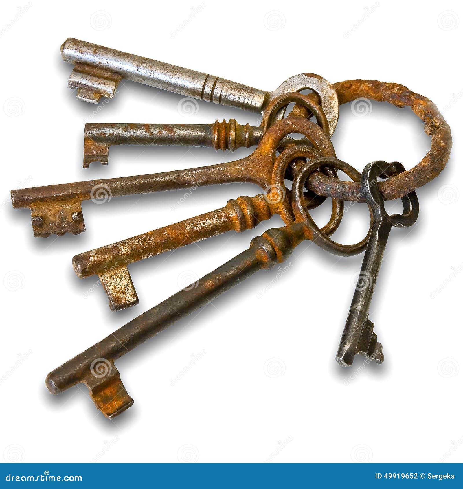 vintage ring of old keys dawn Table