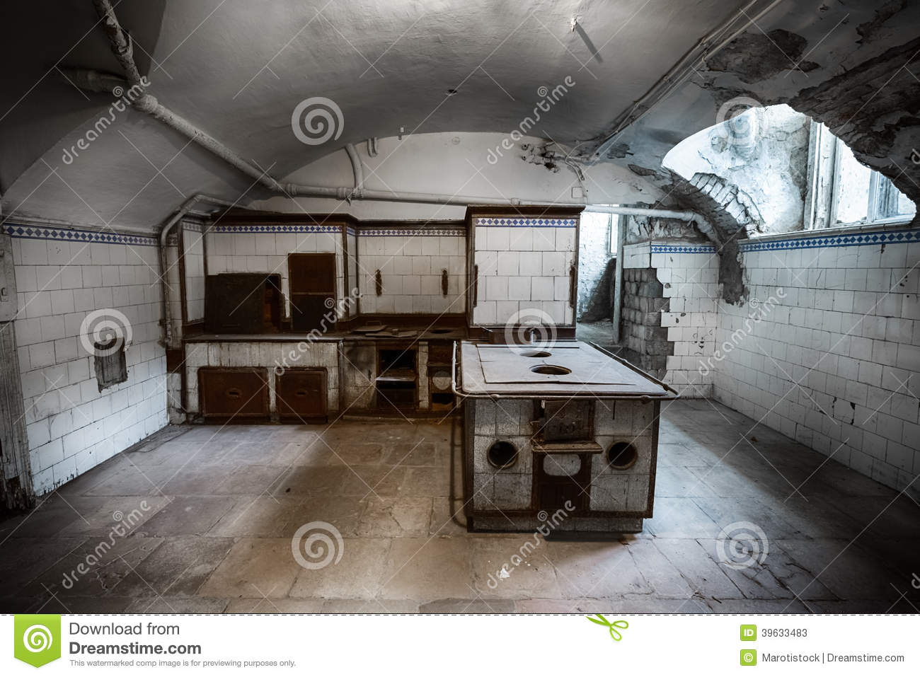 Old Kitchen Stock Image Image Of Architecture Darkness