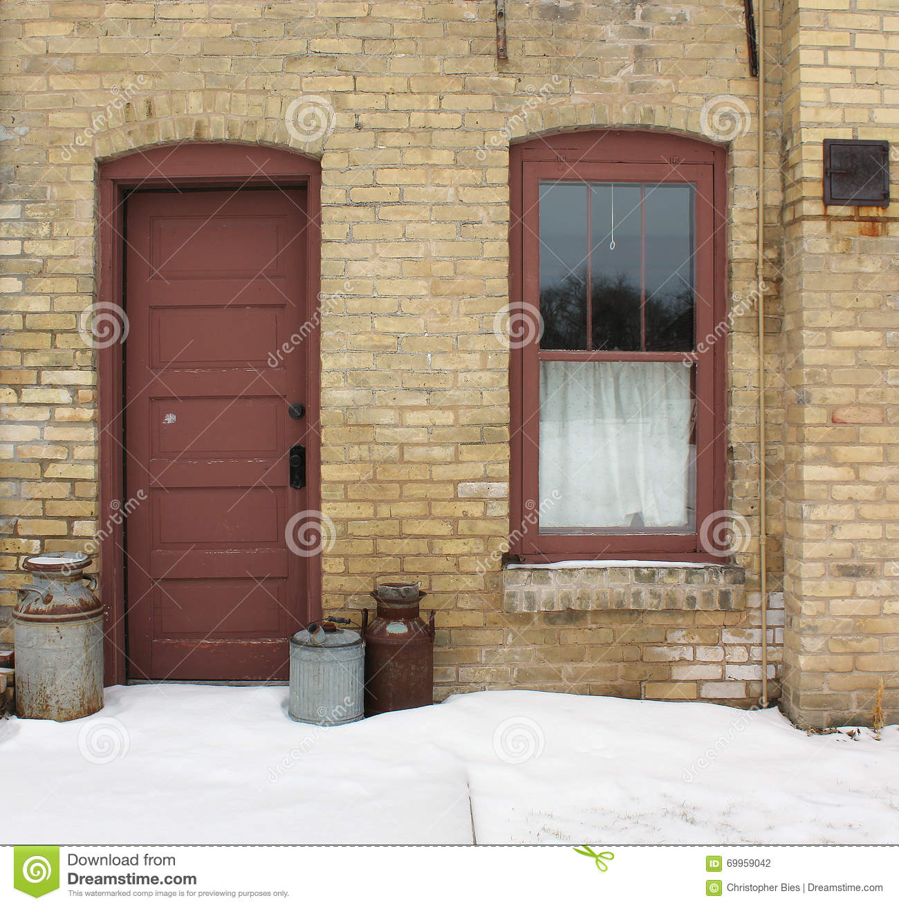 An Old Kitchen Door And Window Stock Photo Image Of Photo