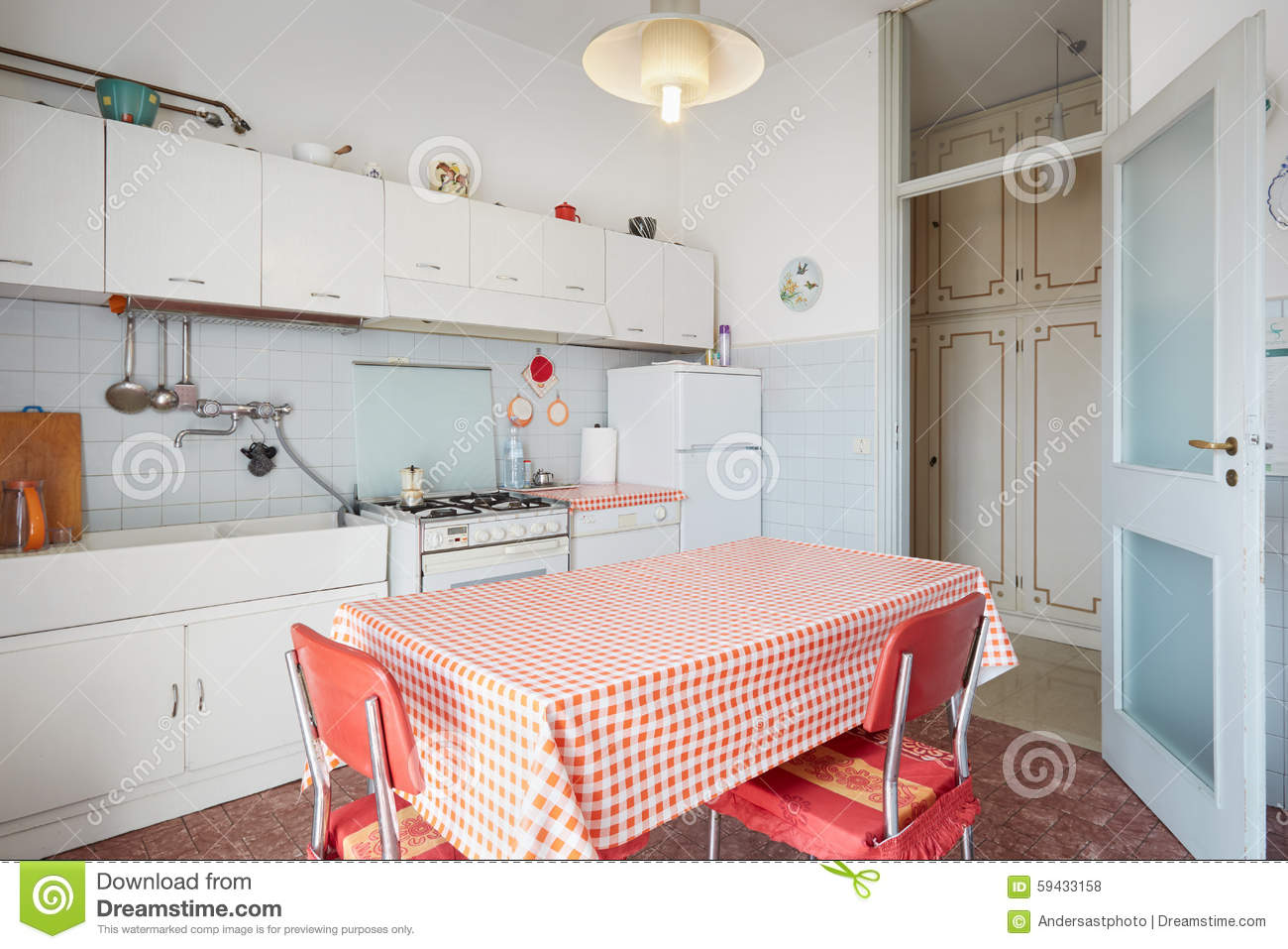 Old Kitchen In Normal House Stock Photo Image Of Architecture