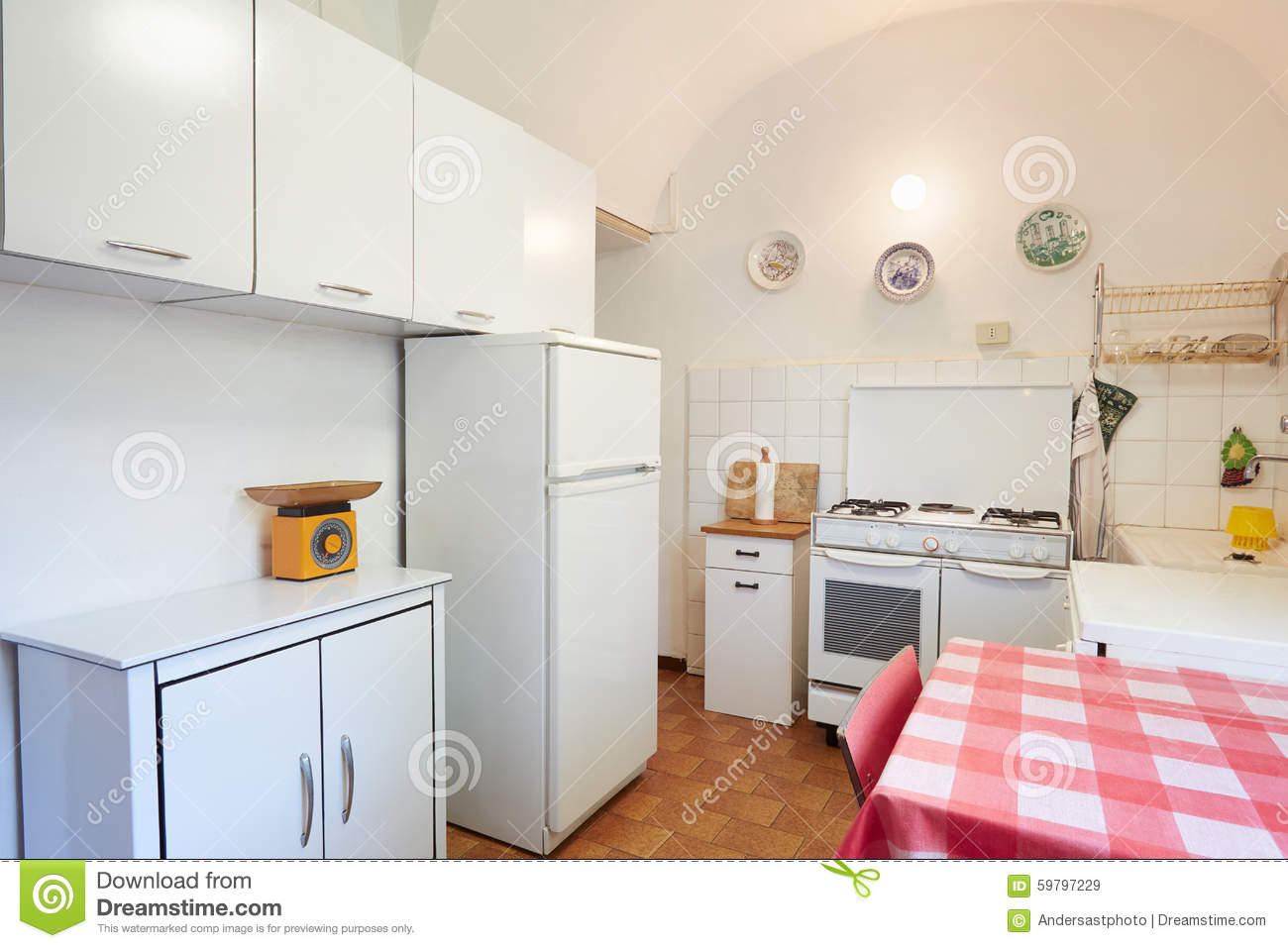 Old kitchen in normal house interior stock photo image for Normal kitchen pictures