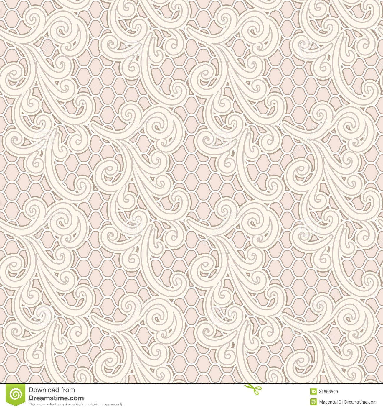Old lace seamless pattern stock vector. Image of background - 31656500