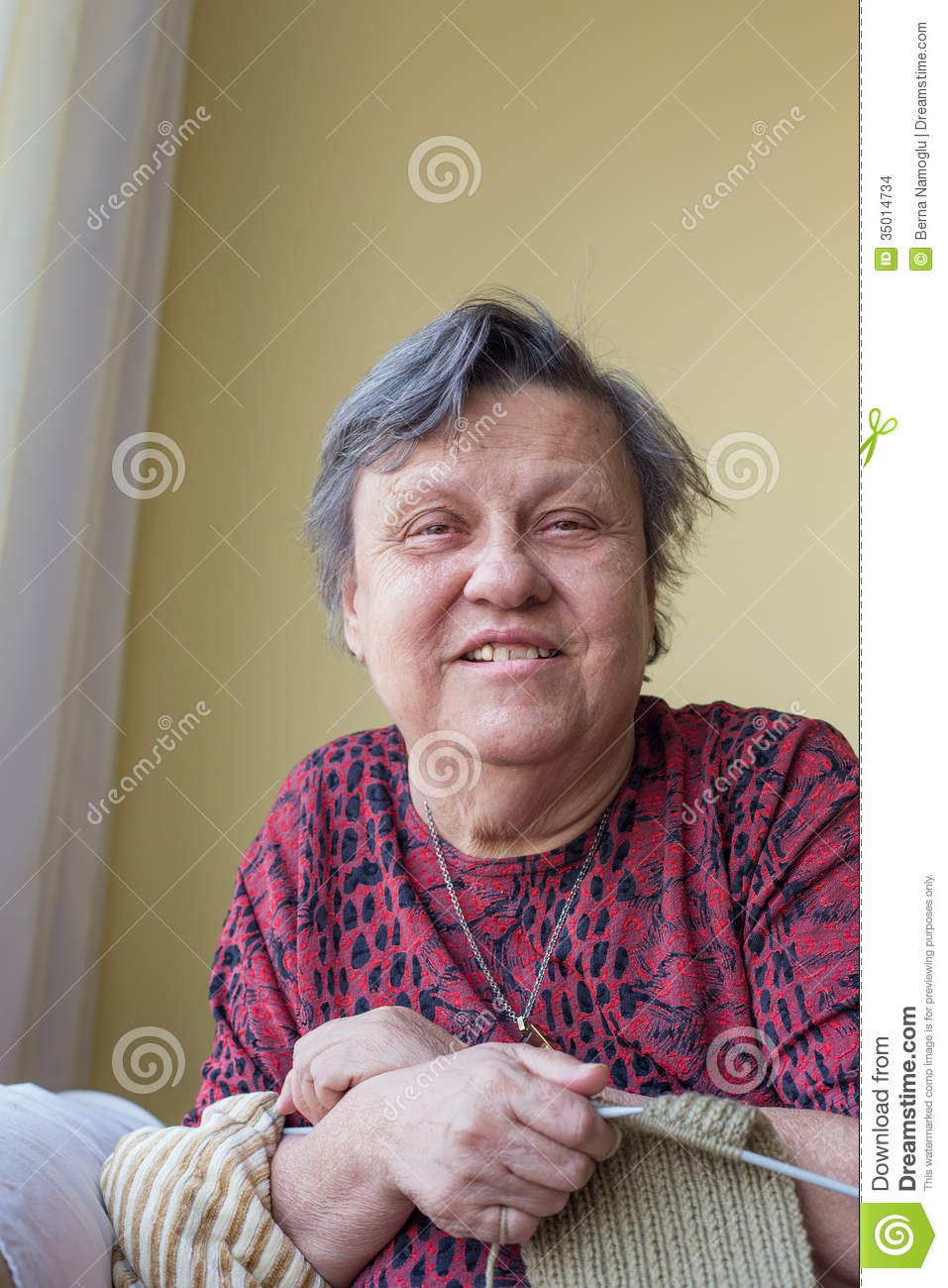 Old Lady Knitting Images : Old lady knitting stock images image