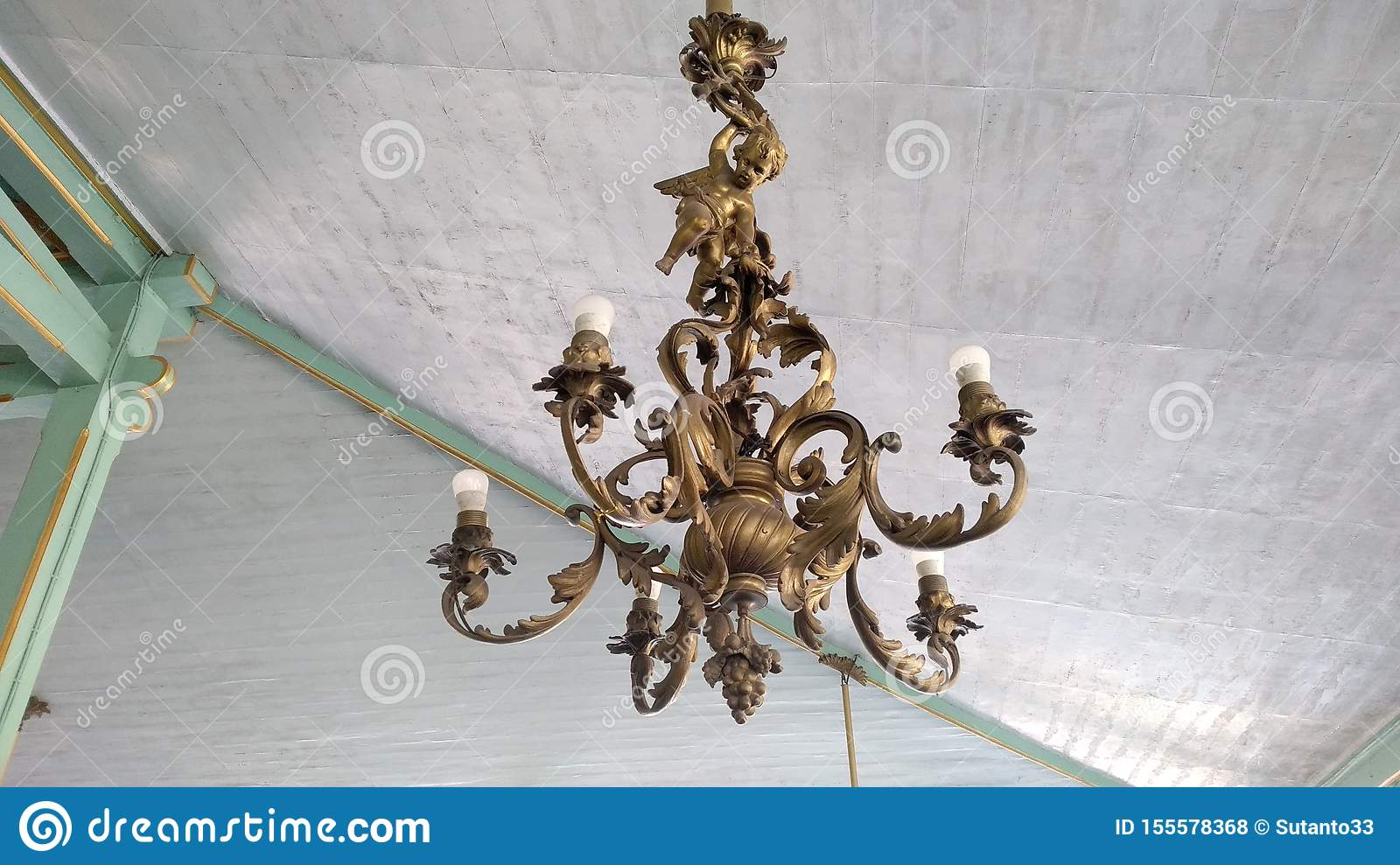 Old lamp in a kingdom of Java