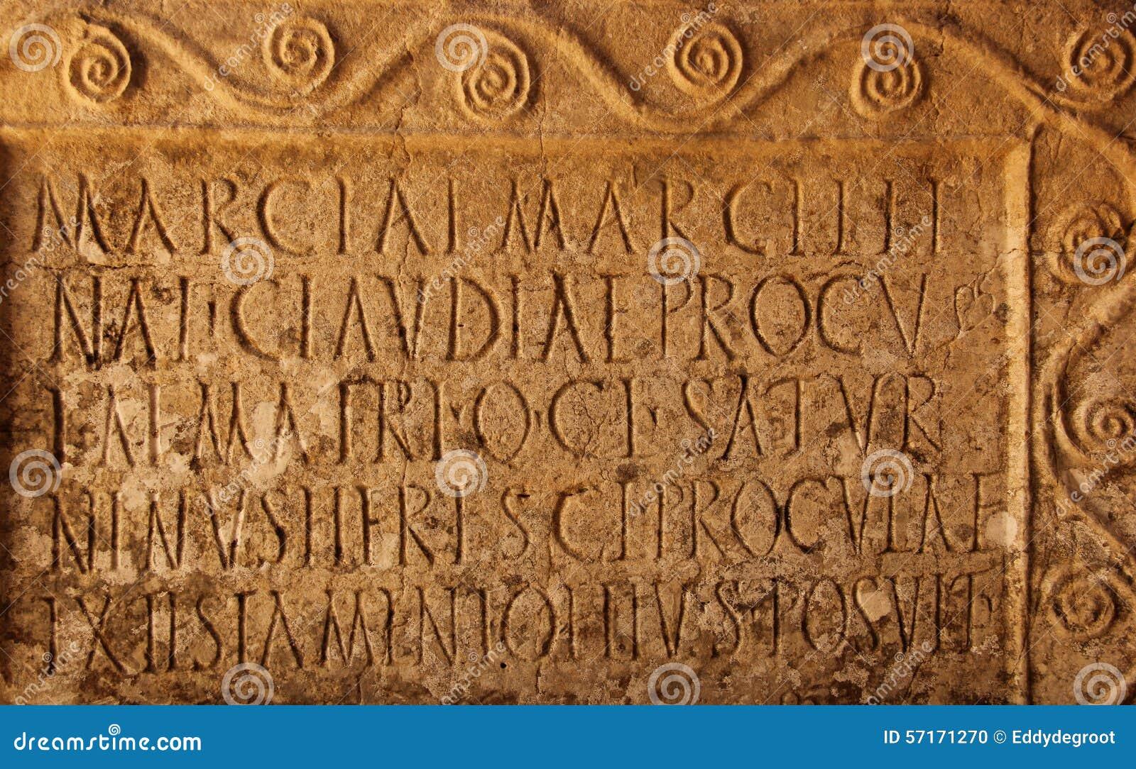 old time roman writing art
