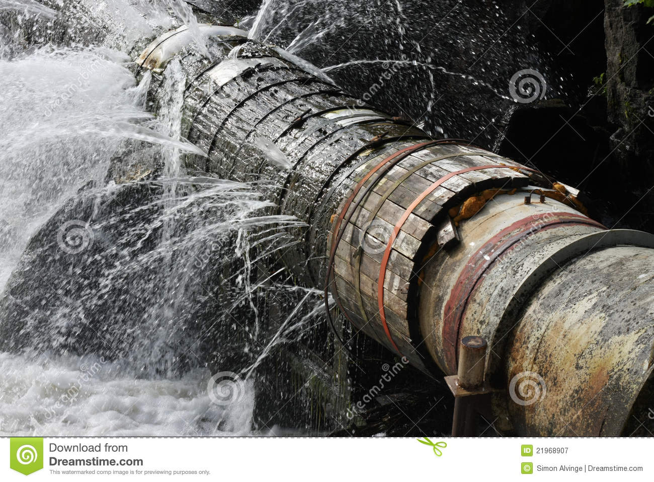 Steam Leak From Pipe : Old leaking pipe stock image of disaster