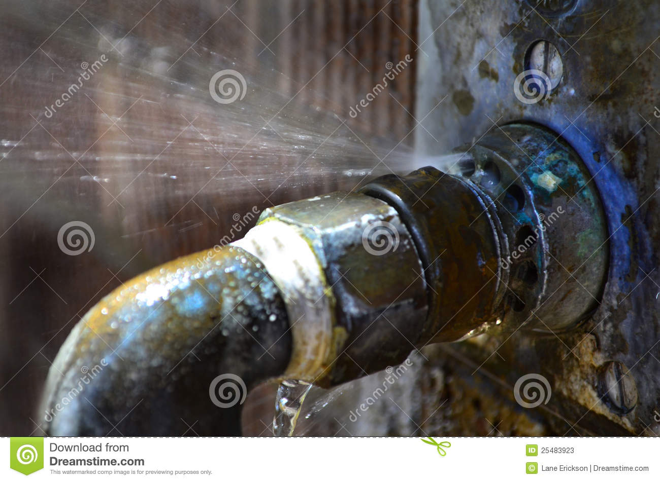 Download Old Leaky Pipes stock image. Image of losing, flowing - 25483923