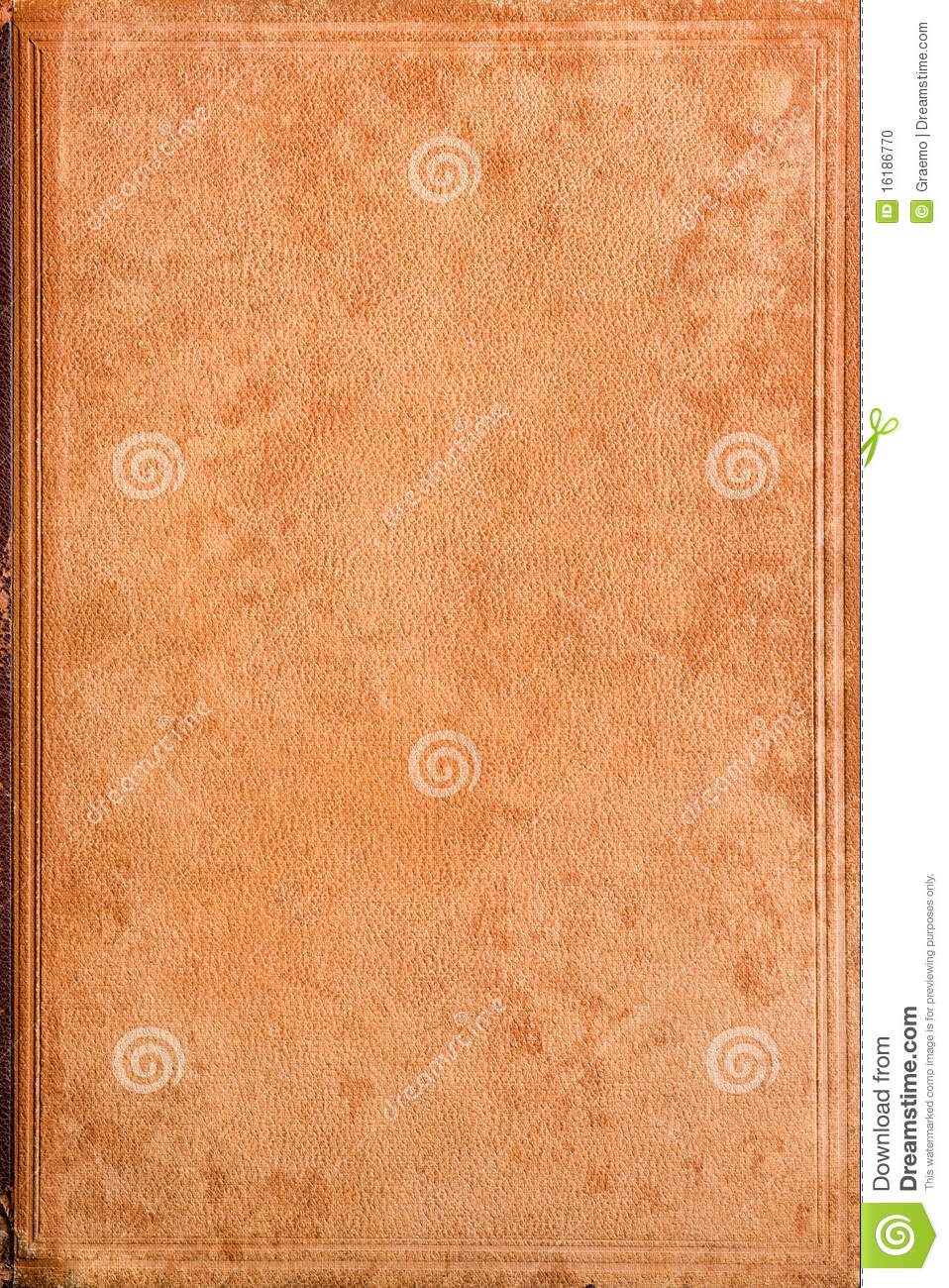 Old Book Leather Case : Old leather book cover stock photo image