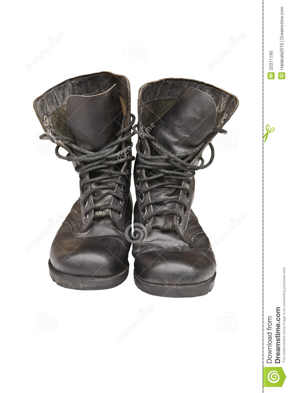 Old Leather Military Boots Stock Photo Image Of Isolated
