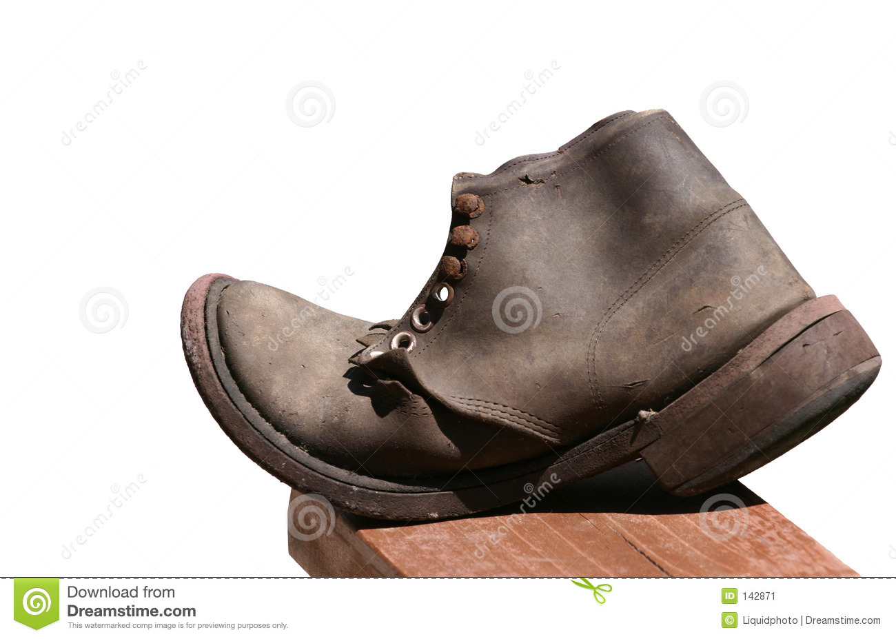 Old Shoe Clipart Old leather shoe isolated