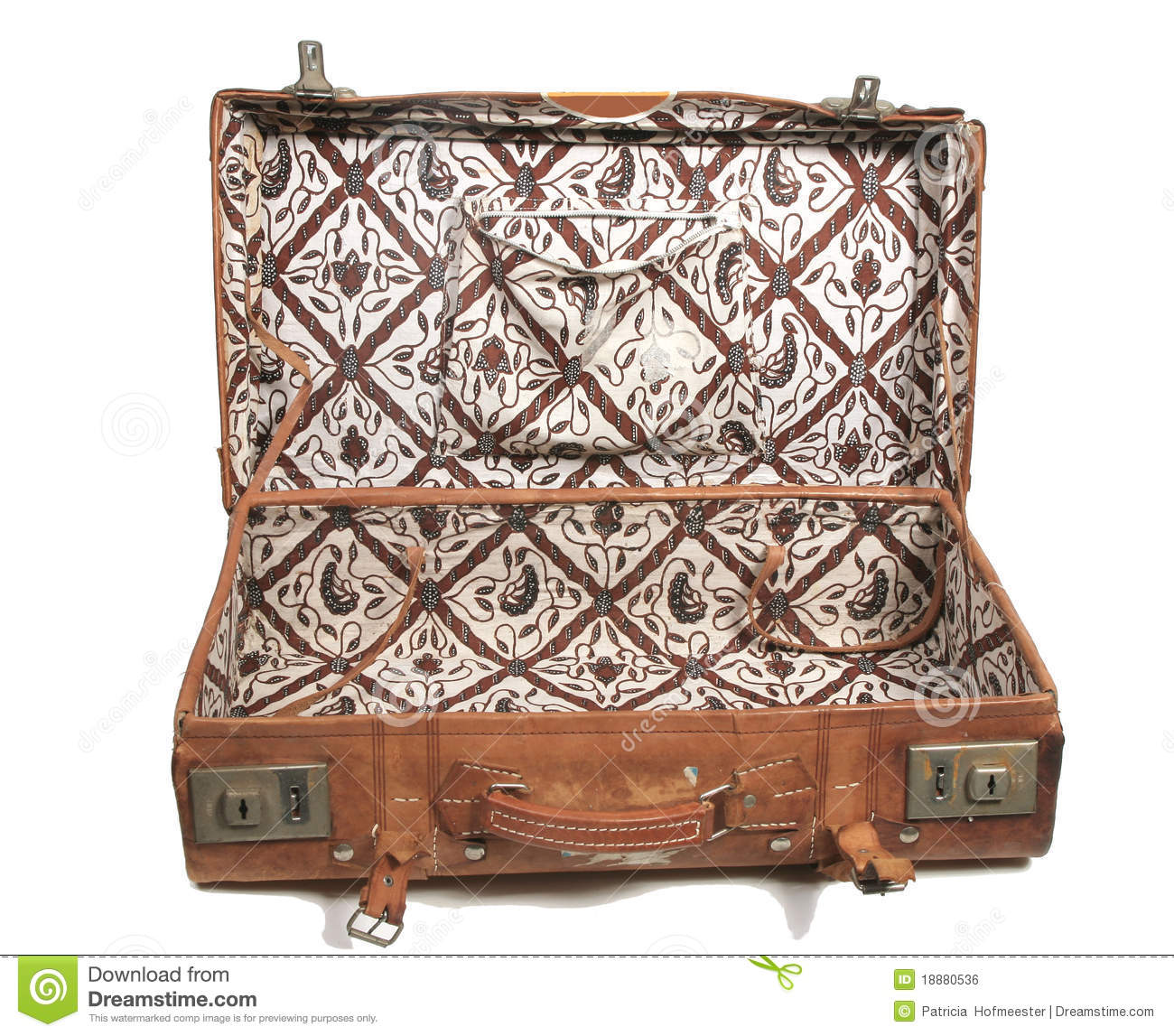 Old Leather Suitcase Royalty Free Stock Image - Image: 18880536