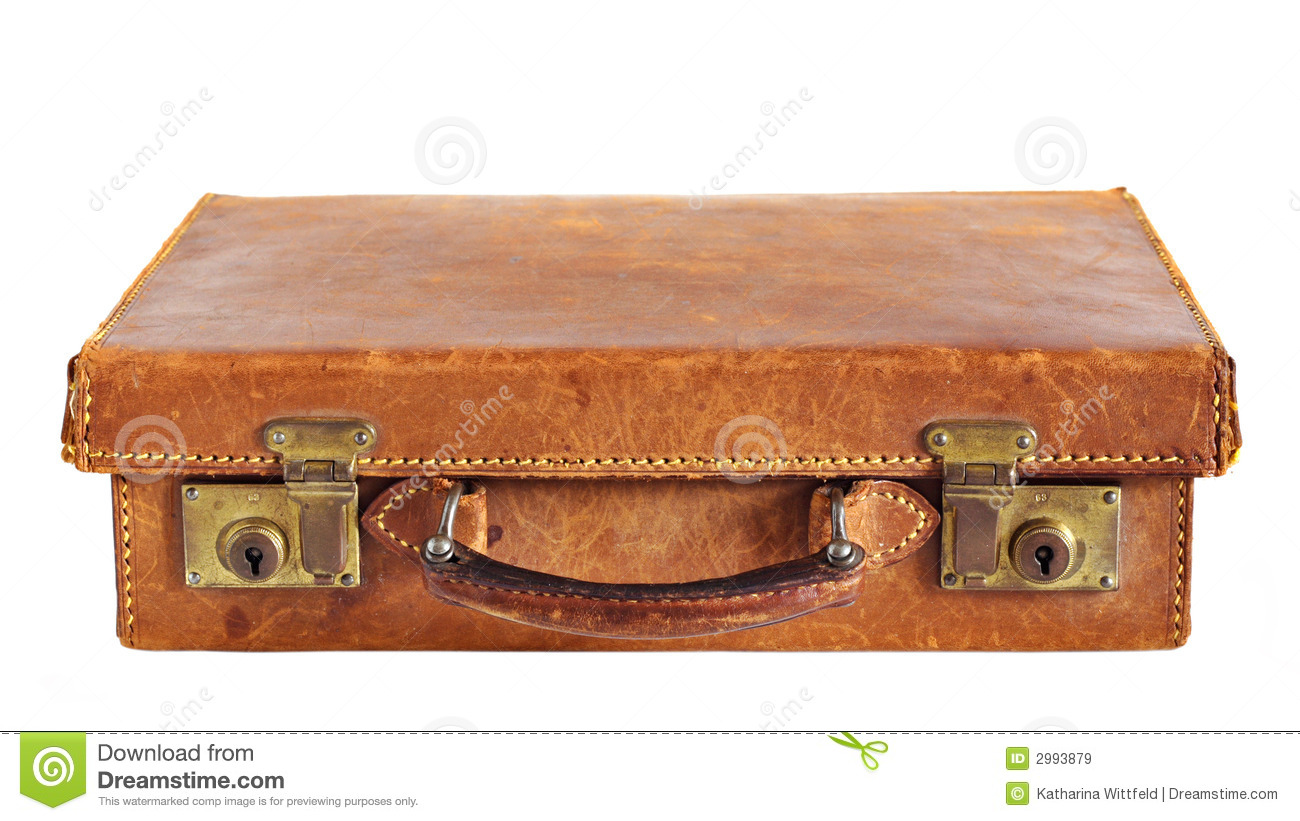 Old Leather Suitcase Royalty Free Stock Images - Image: 2993879