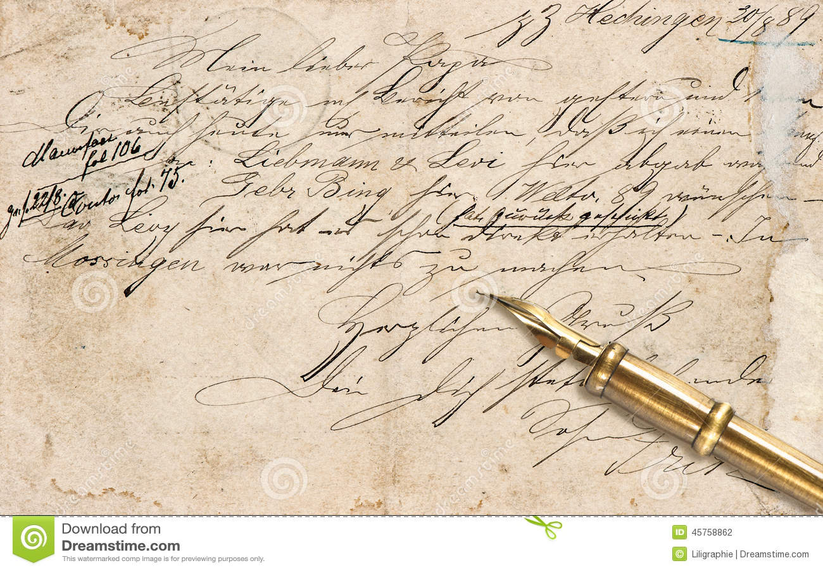 dirty handwriting