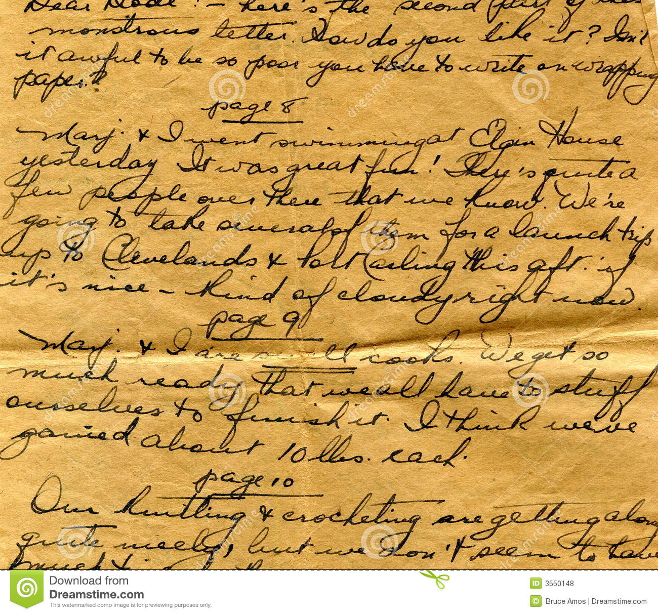 Old Letter Handwriting Detail