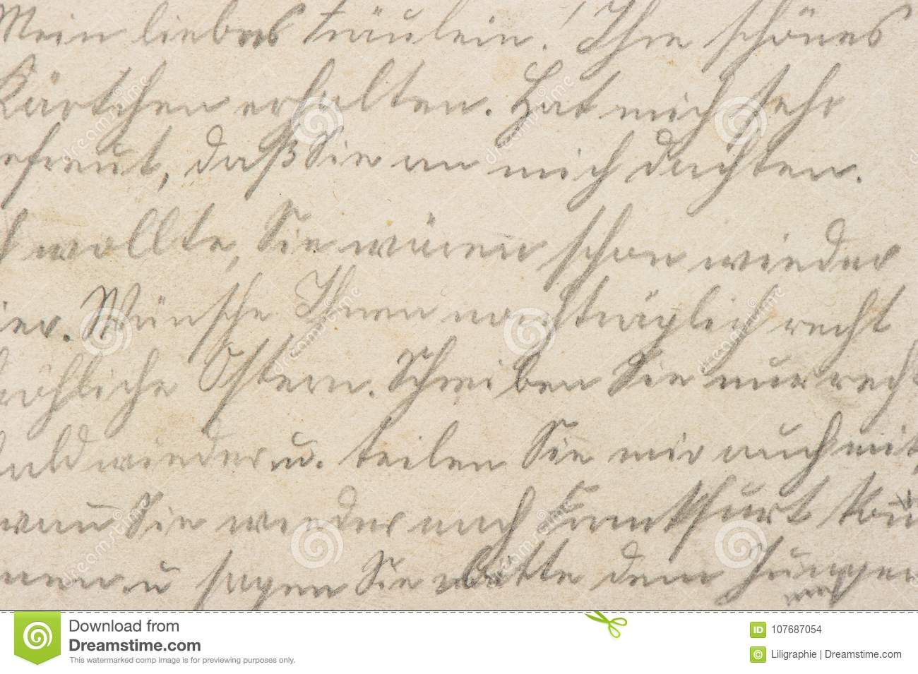 old letter handwritten text paper texture background stock photo