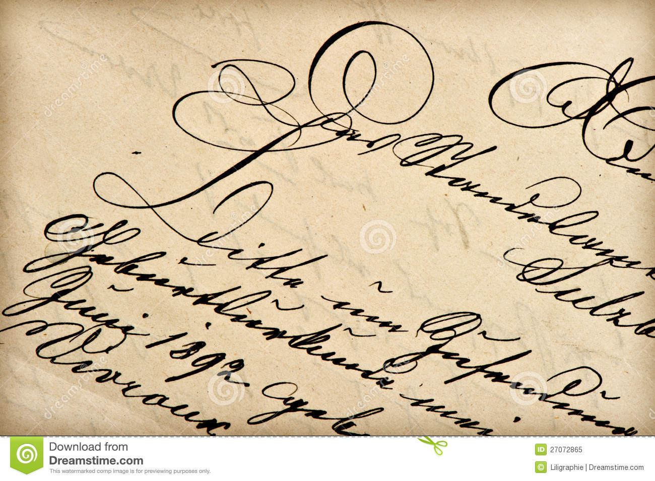 Handwritten Letters Old Fashioned