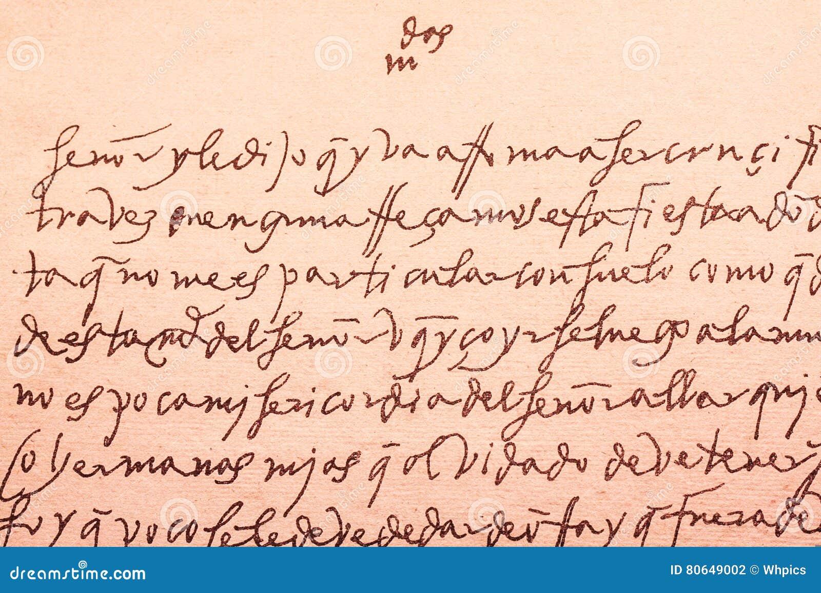 old letter written in spanish from xvi century