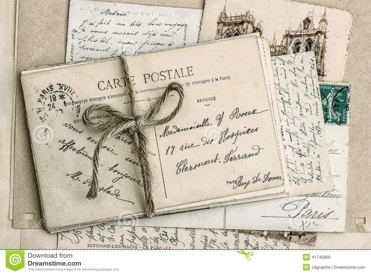 old letters french postcards - photo #2