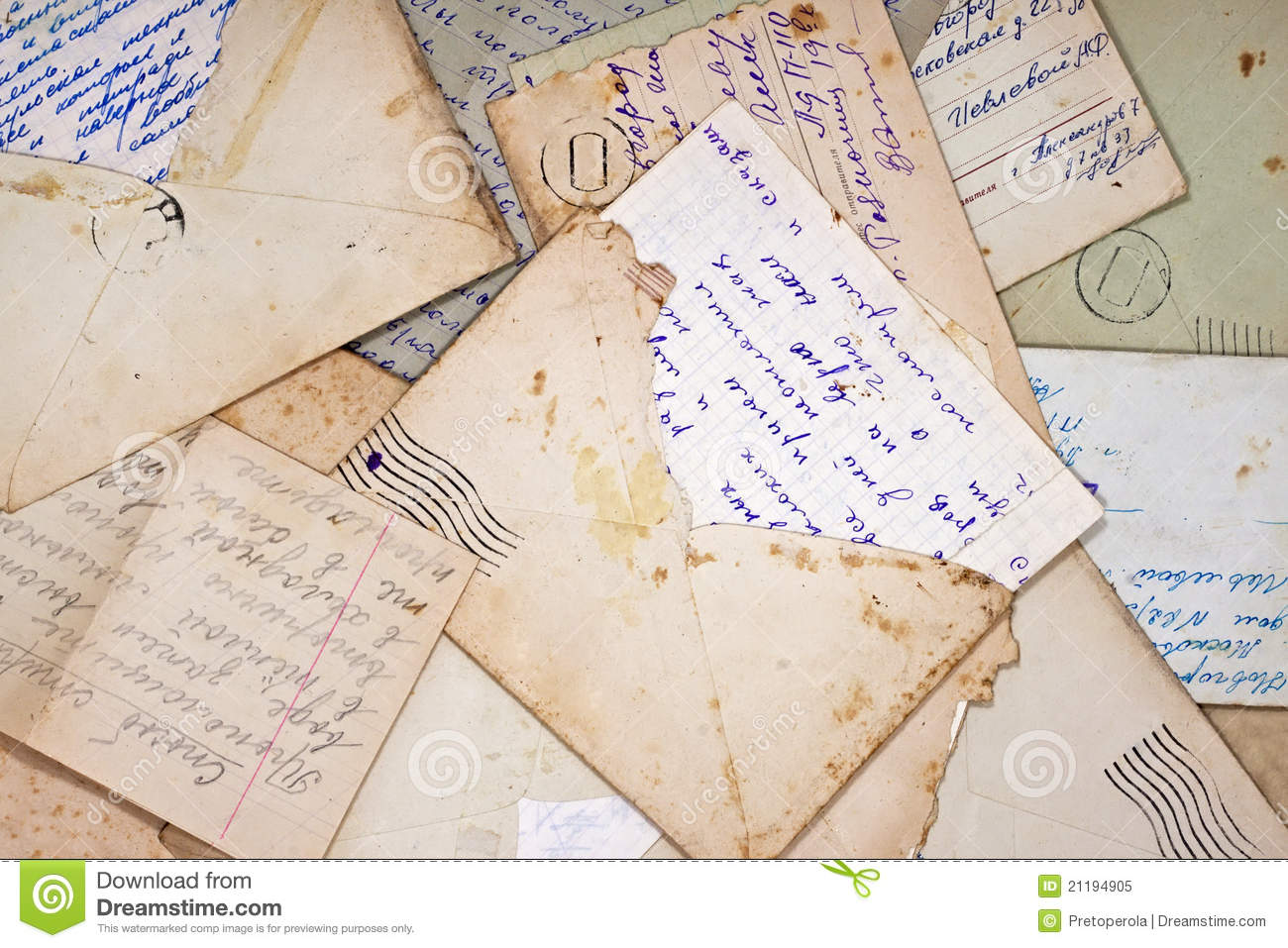 Old letters and envelope