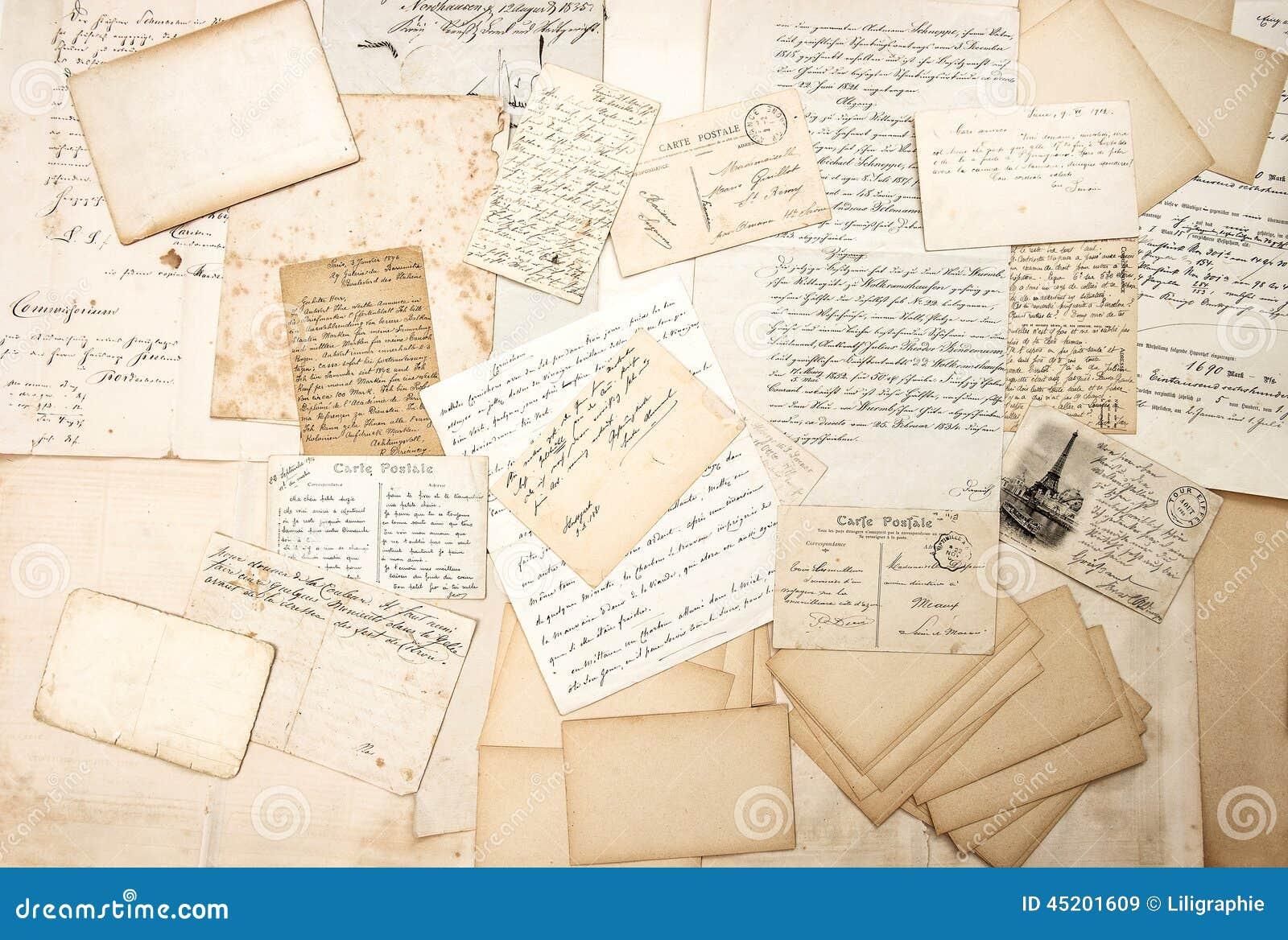 vintage letters postcards photographs - photo #12