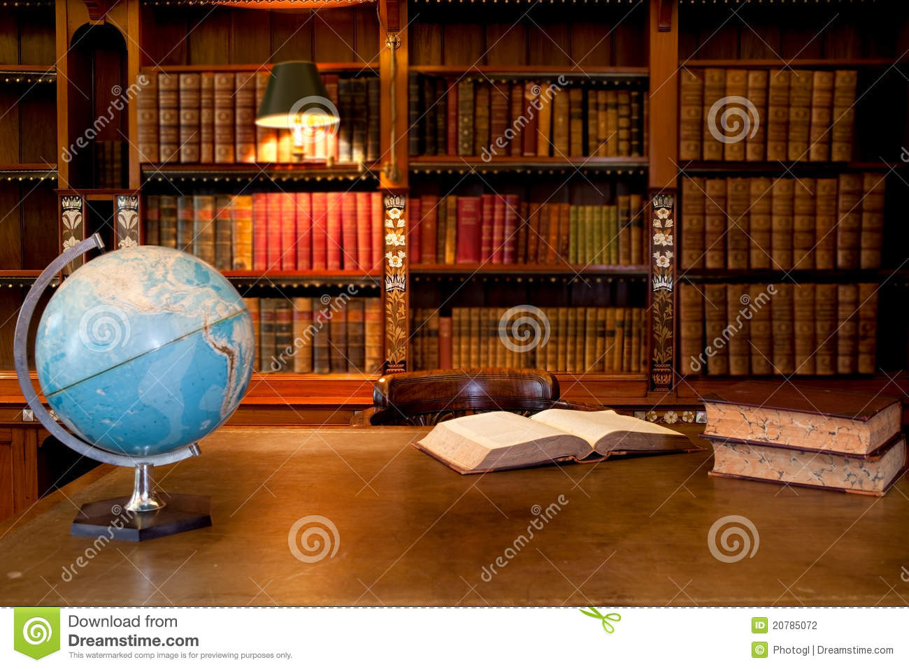 Old Library Interior Stock Photography Image 20785072