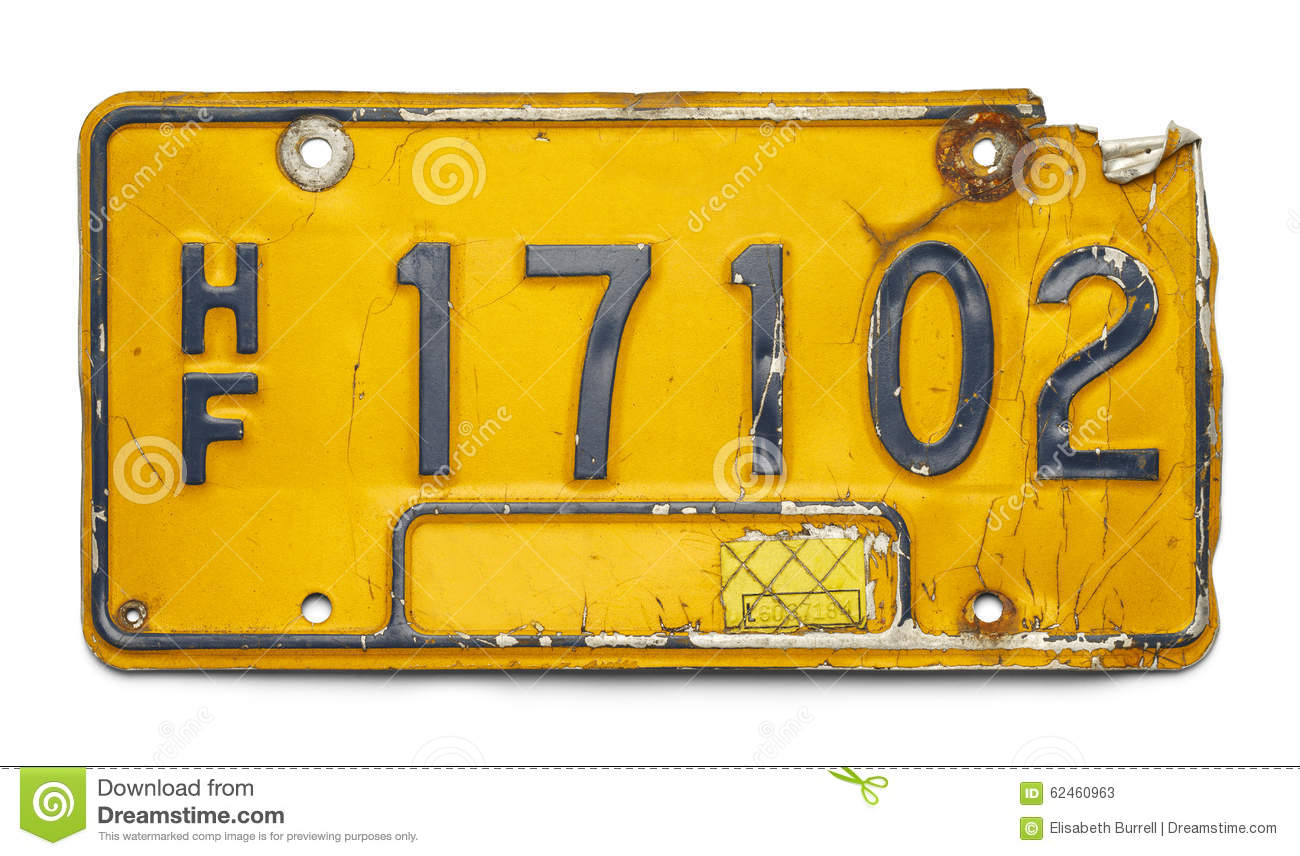 Old License Plate stock image. Image of peeling, image - 62460963