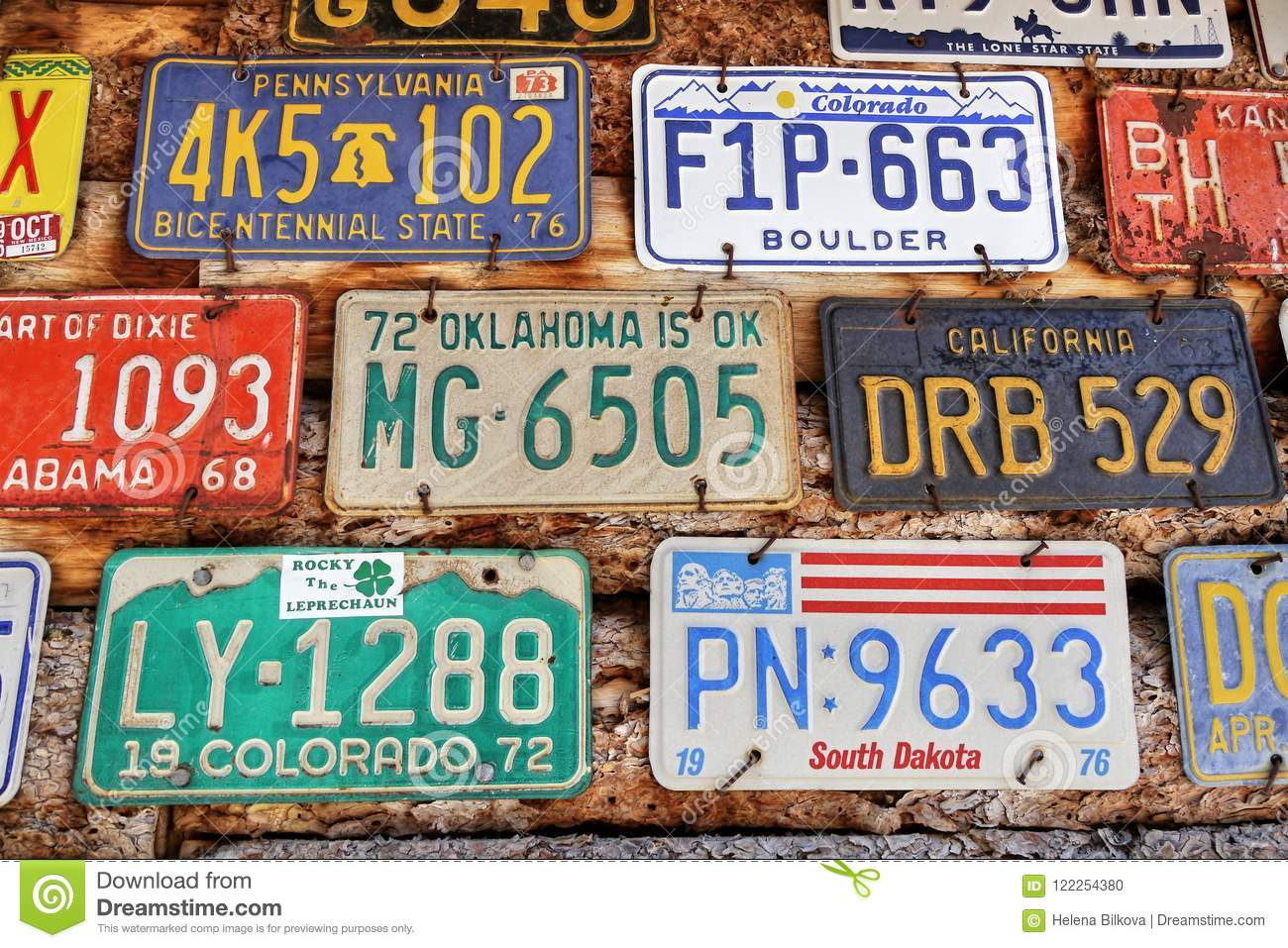 Old License Plates editorial image  Image of number - 122254380