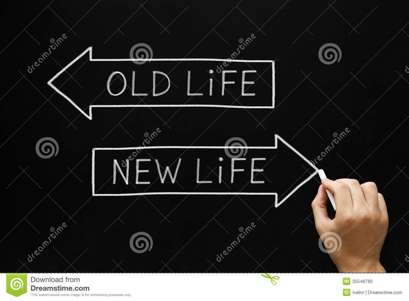 Old Life or New Life stock photo. Image of directions ...