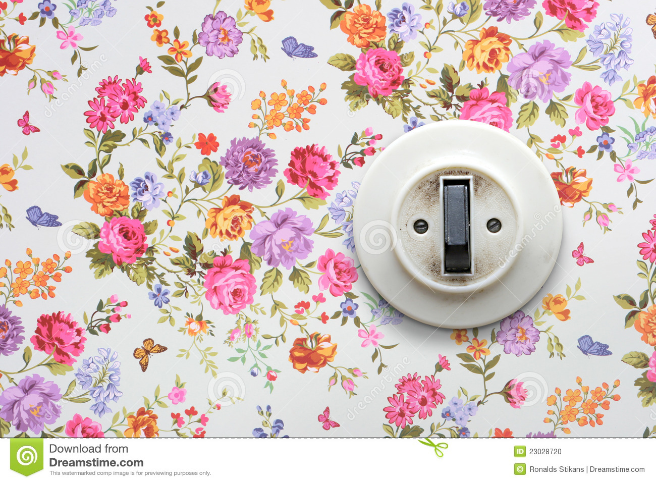 Old light switch stock photography for Papel de empapelar