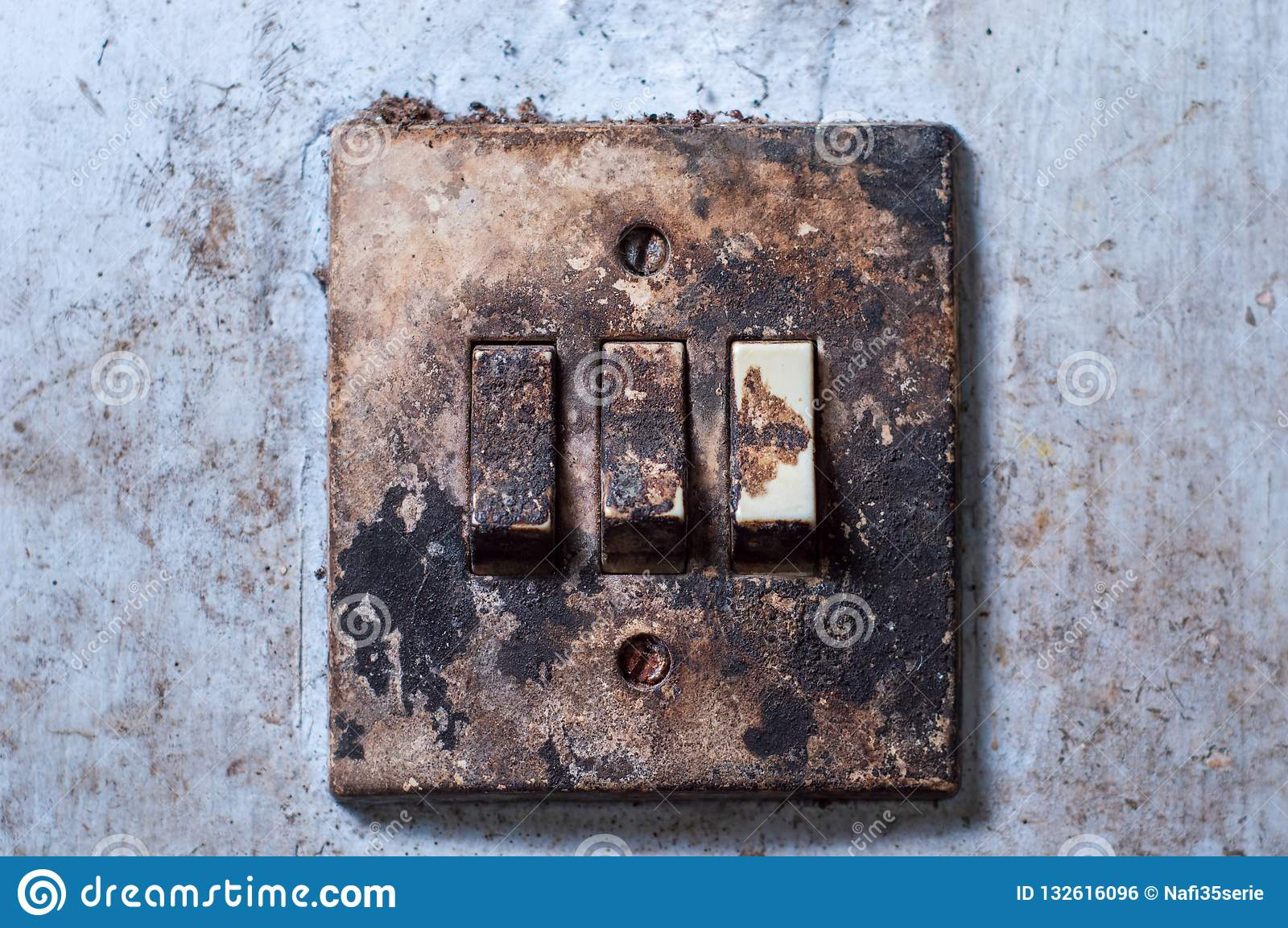 Admirable Old Light Switch Mounted On A White Wall Stock Photo Image Of Wiring 101 Ouplipimpapsstreekradiomeanderfmnl