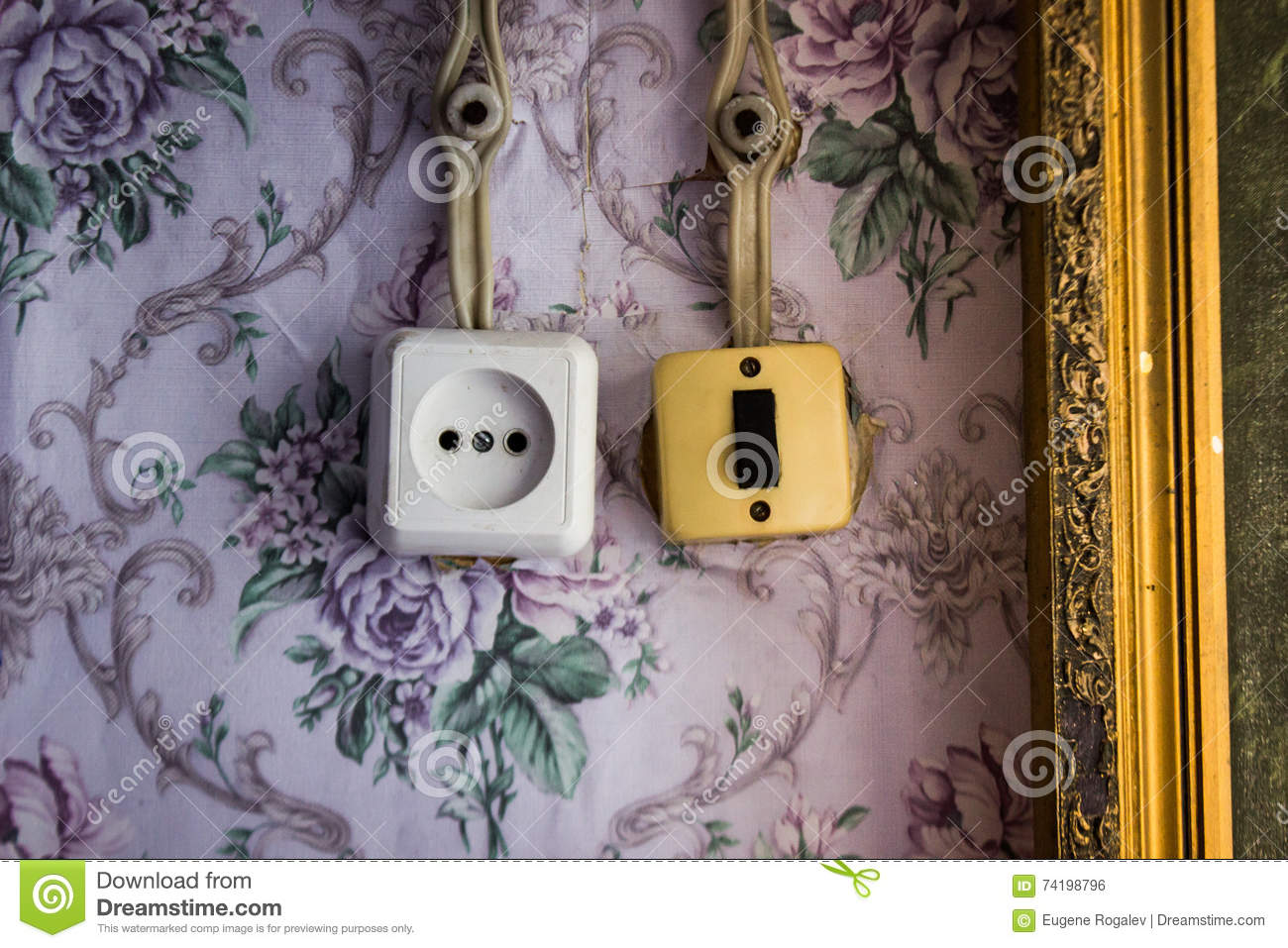 Terrific An Old Light Switch And A Power Socket Stock Photo Image Of Wall Wiring 101 Ouplipimpapsstreekradiomeanderfmnl
