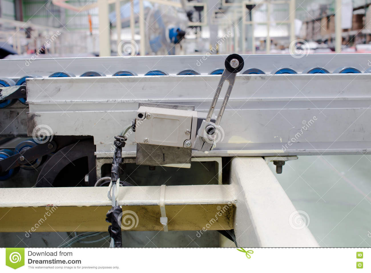 The Old Limit Switch In Pneumatic Systems  Power And Hydraulics  Stock Image