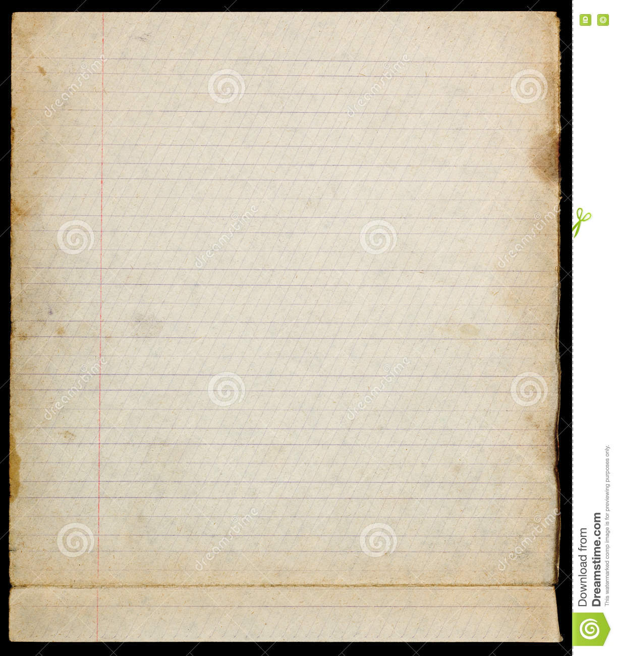 Old Lined Paper Page With Margins. Royalty Free Stock Photo. Download Old Lined  Paper ...  Download Lined Paper