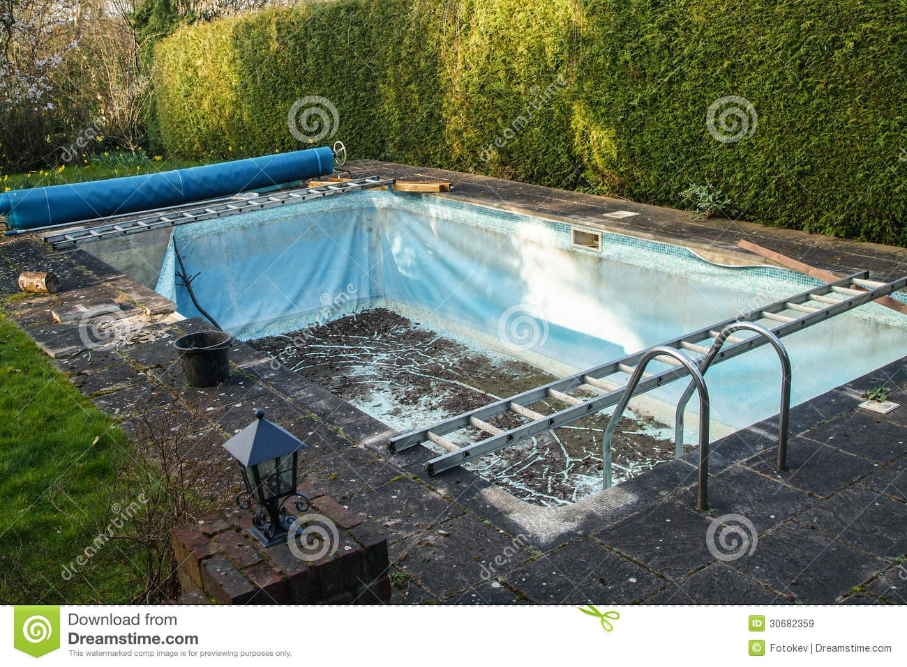 Old swimming pool liner royalty free stock images image for What to do with old swimming pool
