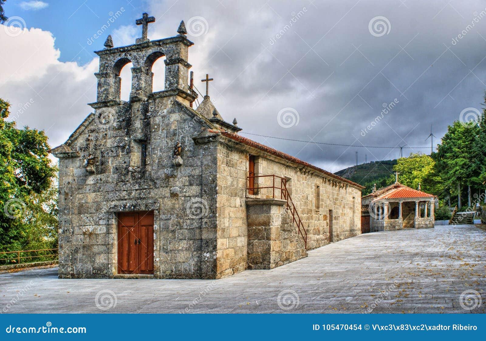 Download Old Little Church In Vila Pouca De Aguiar Stock Photo - Image of portugal, outdoor: 105470454