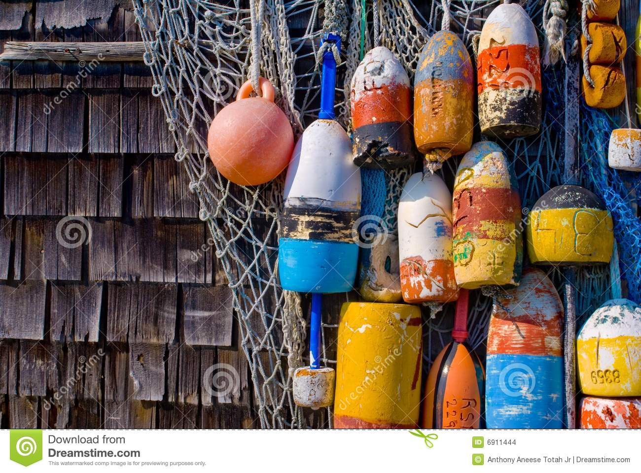 Old Lobster Buoys Stock Photo Image Of Fishing Icons