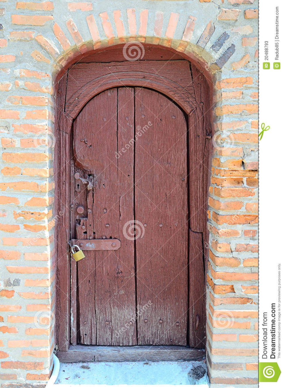 Old Locked Door Stock Photos Image 20488793
