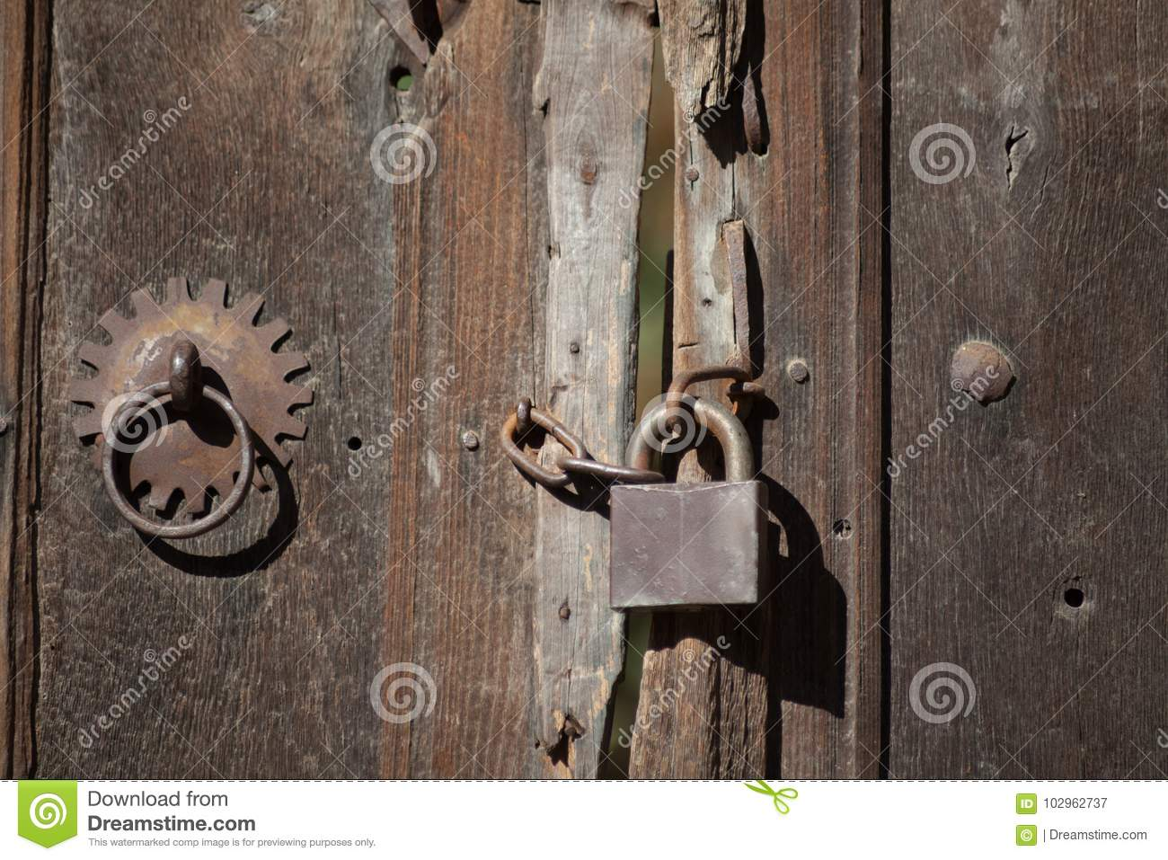 old locks and doors with latches stock image image of close