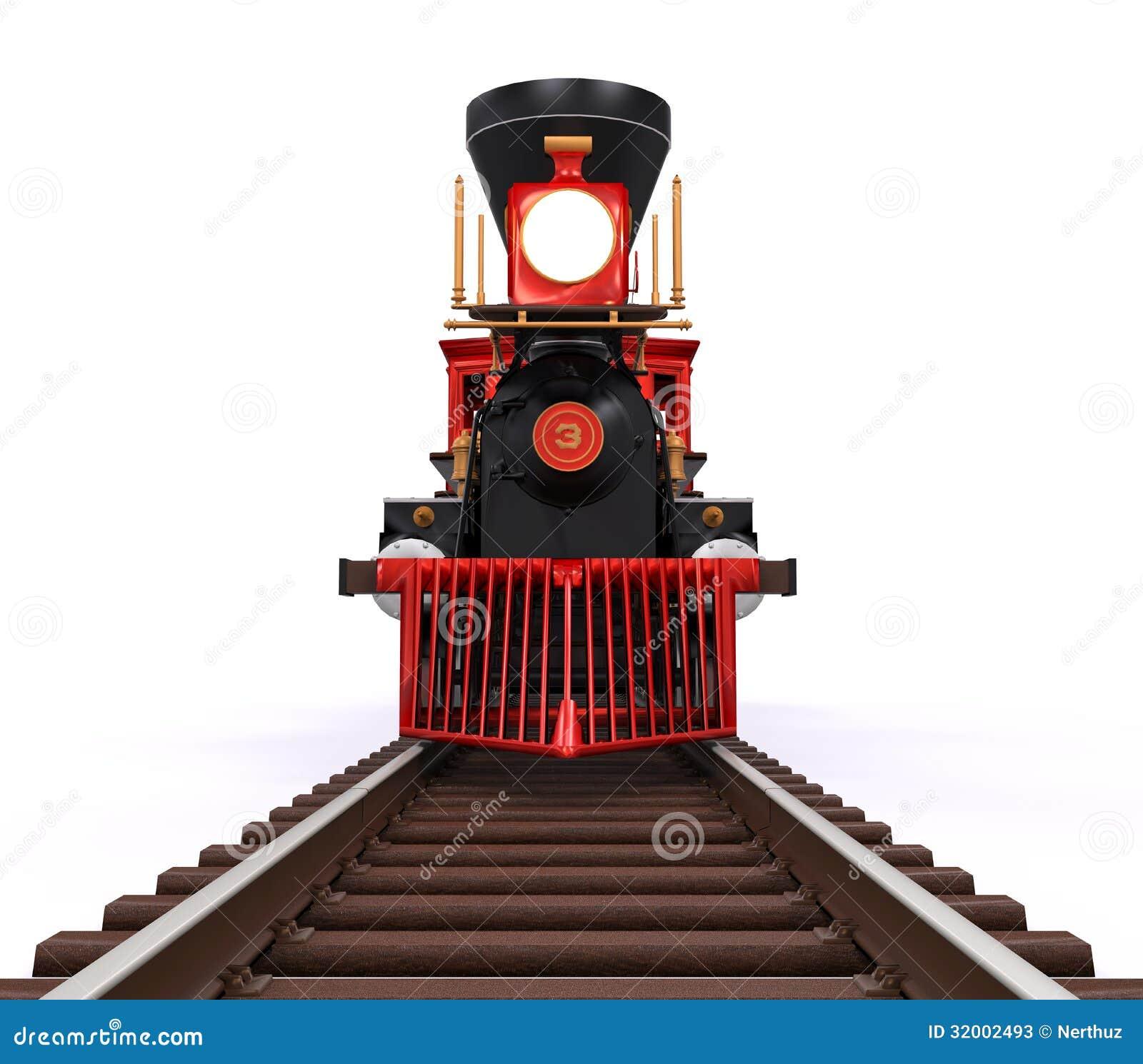 Old Locomotive Train Iron Railroad