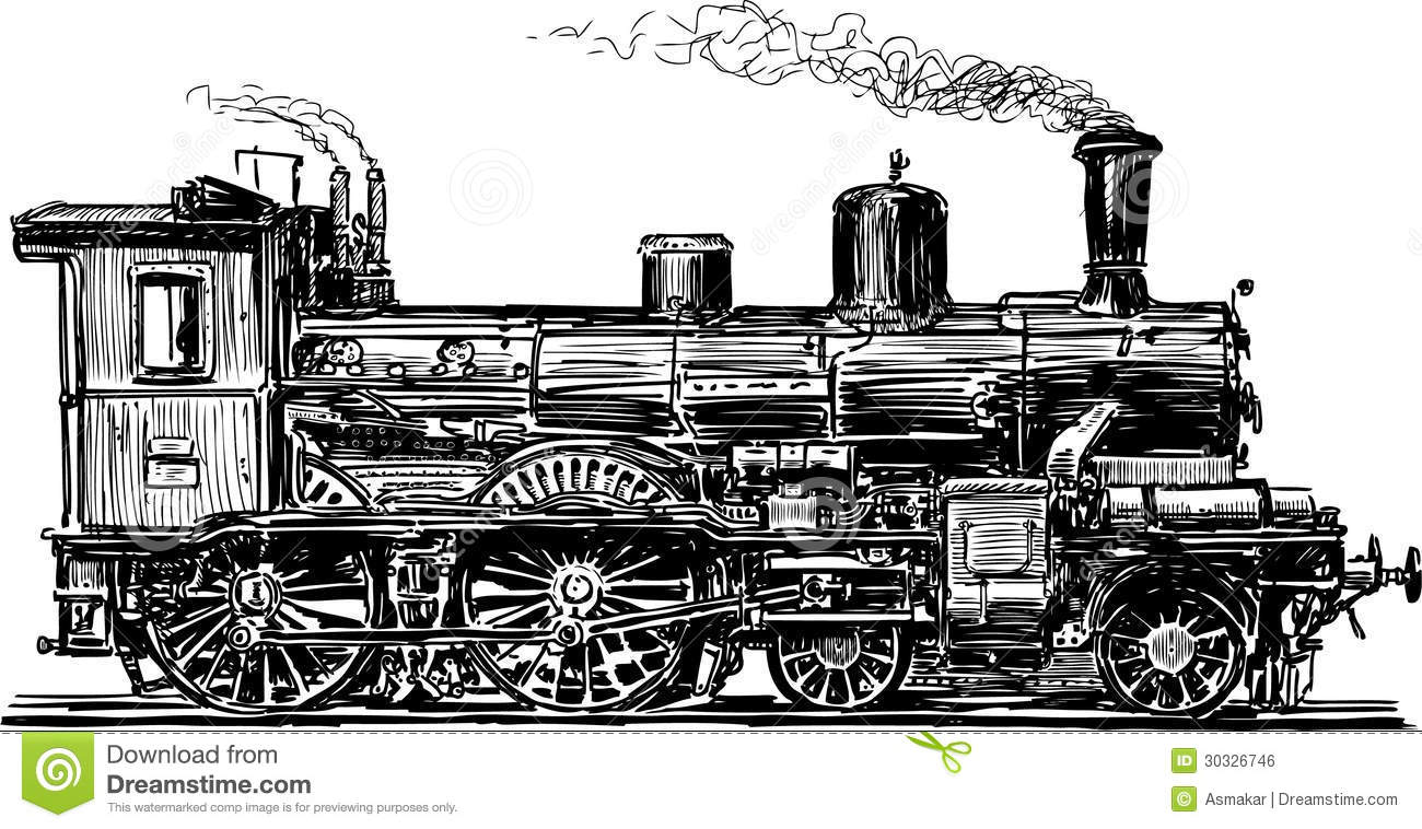 Old Locomotive Royalty Free Stock Image - Image: 30326746