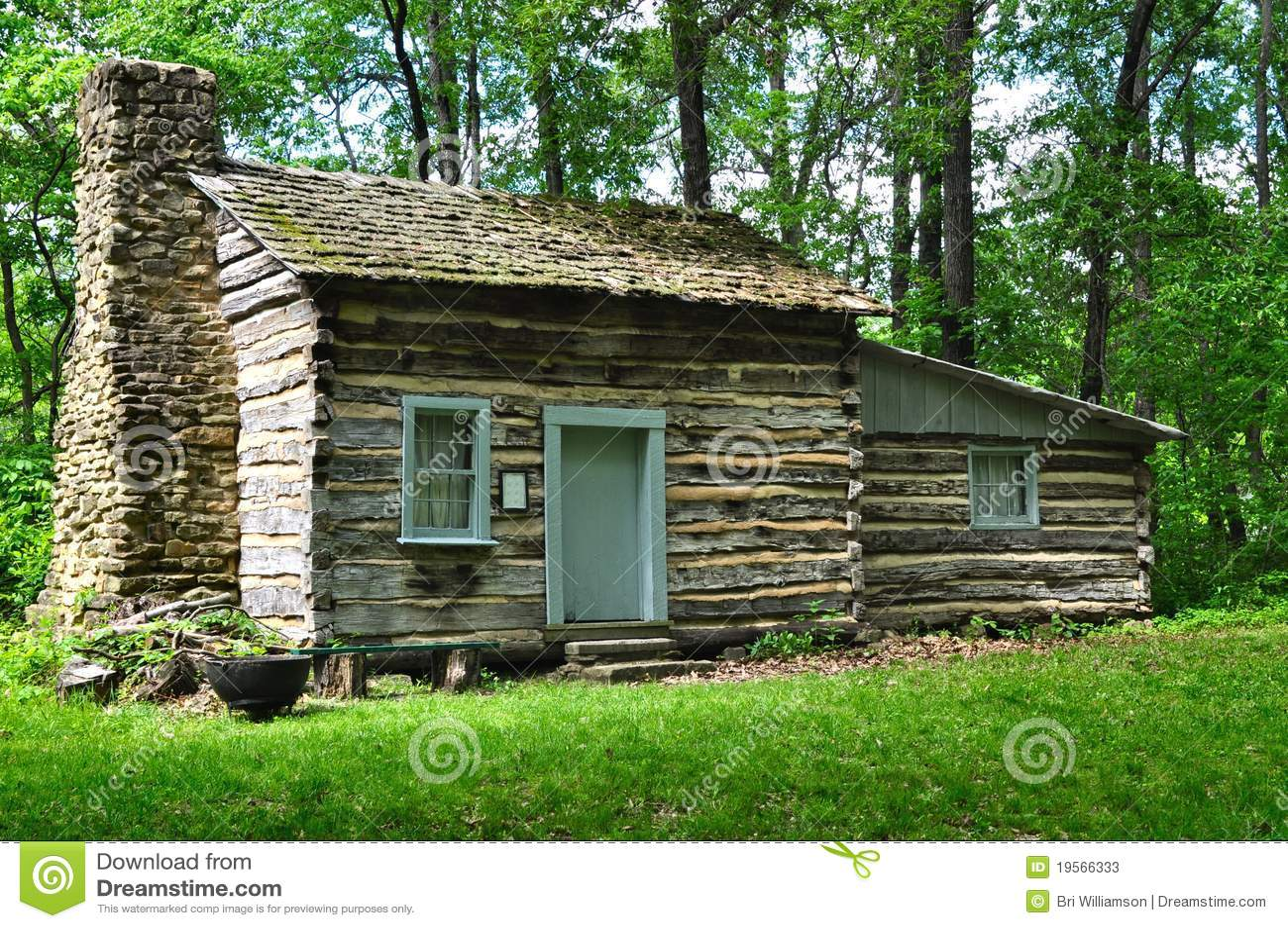 Old log cabin stock photos image