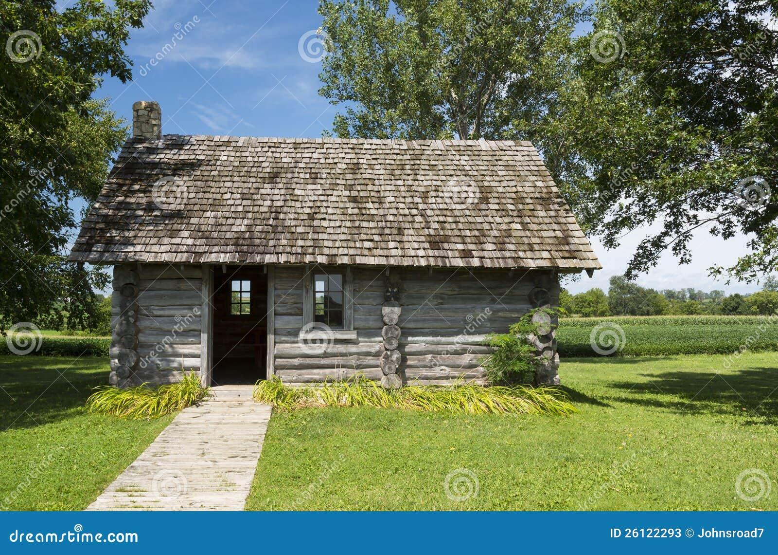 Old Log Cabin Stock Photos Image 26122293