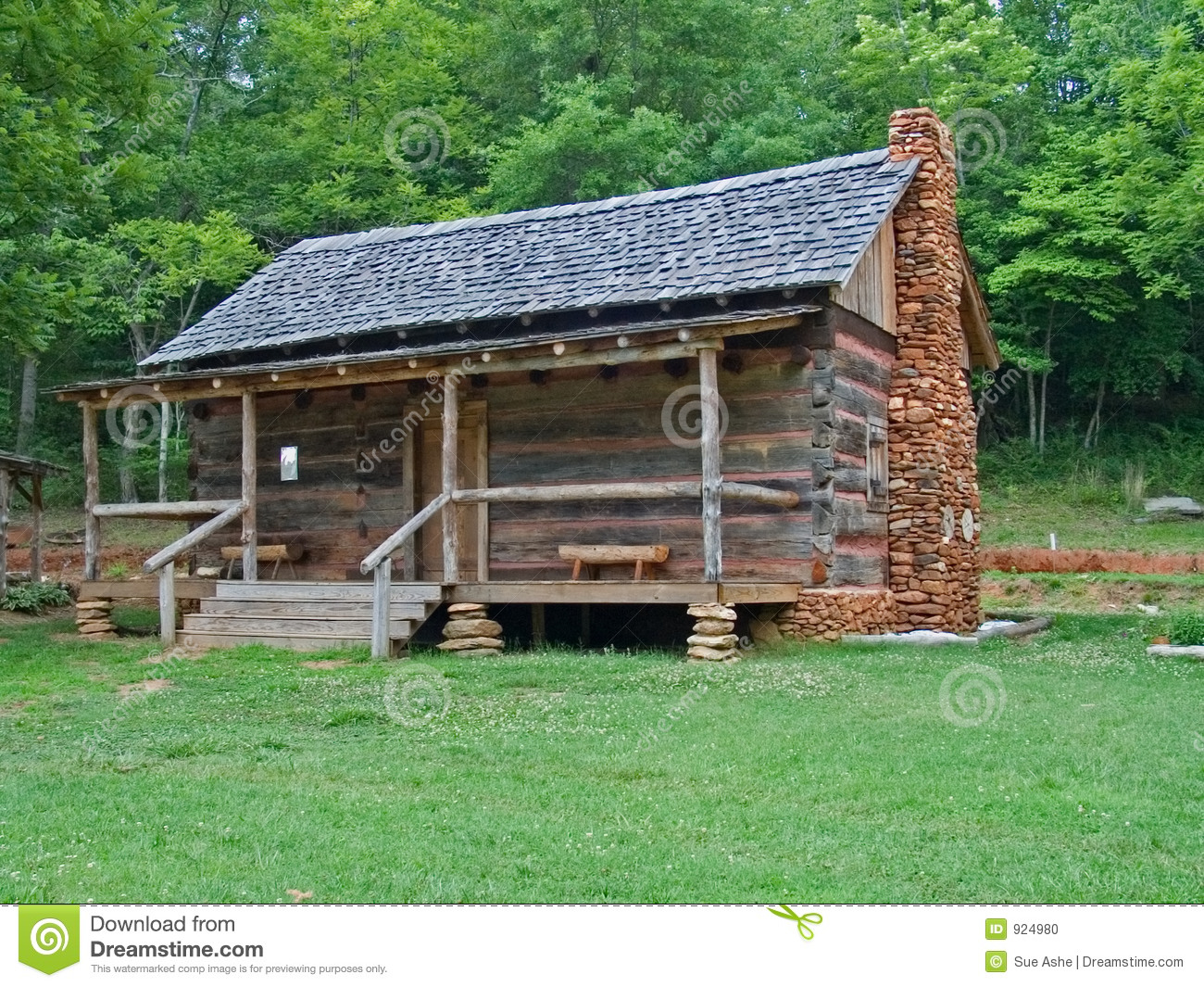 Wonderful image of Stock Photo Old Log Cabin Image924980 with #407239 color and 1300x1065 pixels