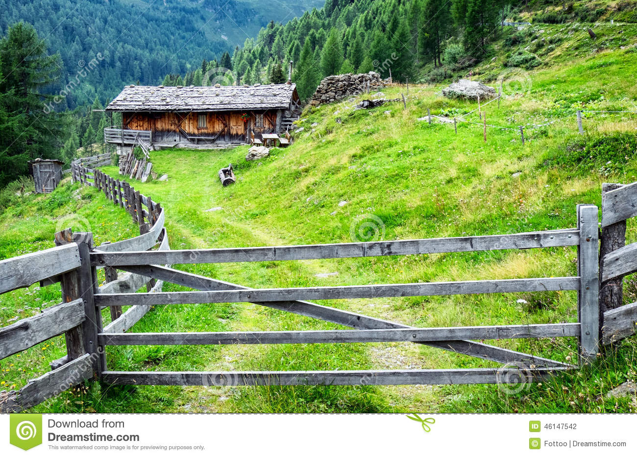 Old Log Cabin Stock Photo Image 46147542