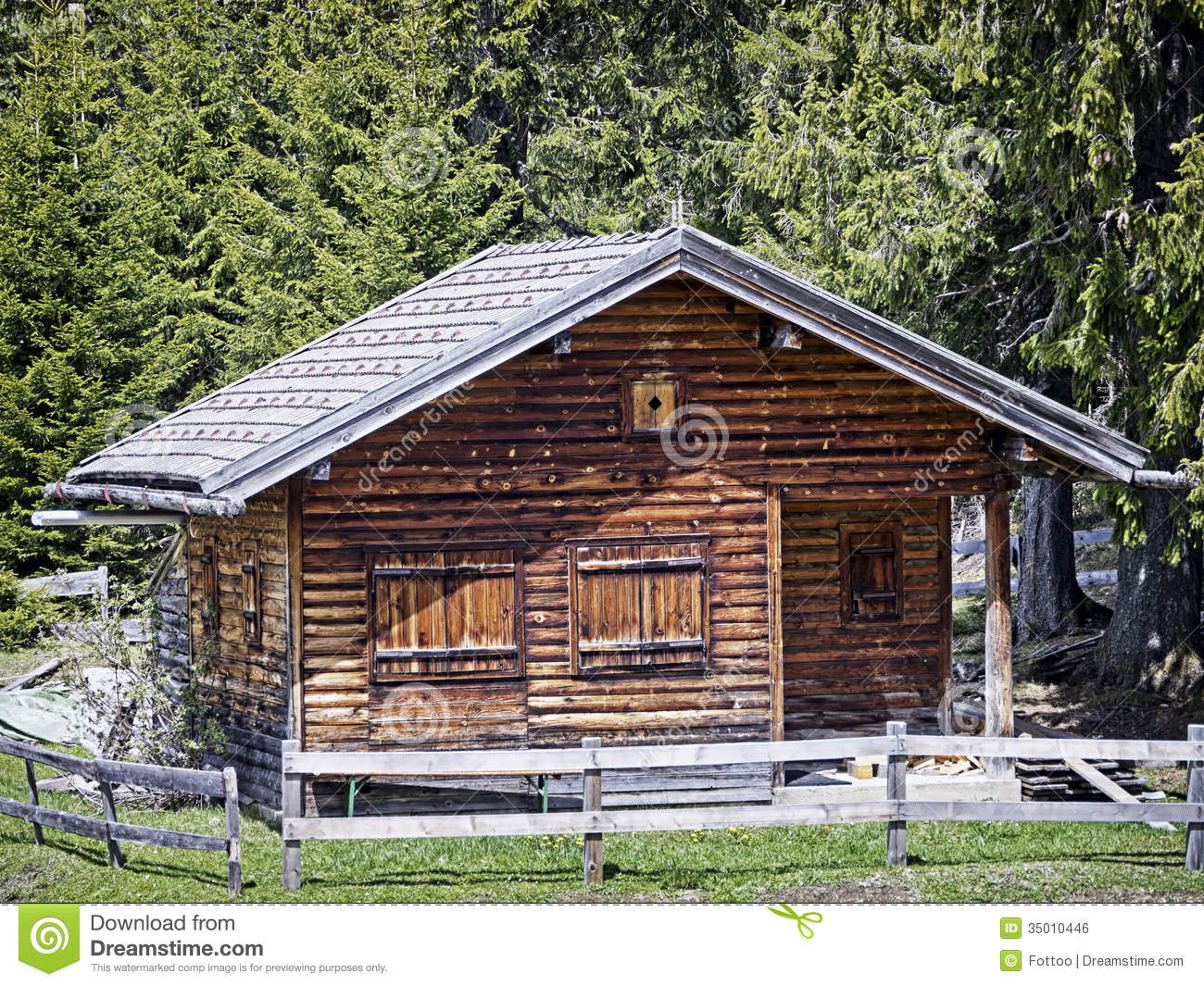 Old log cabin stock photo image of scene roof color for Old rustic cabins